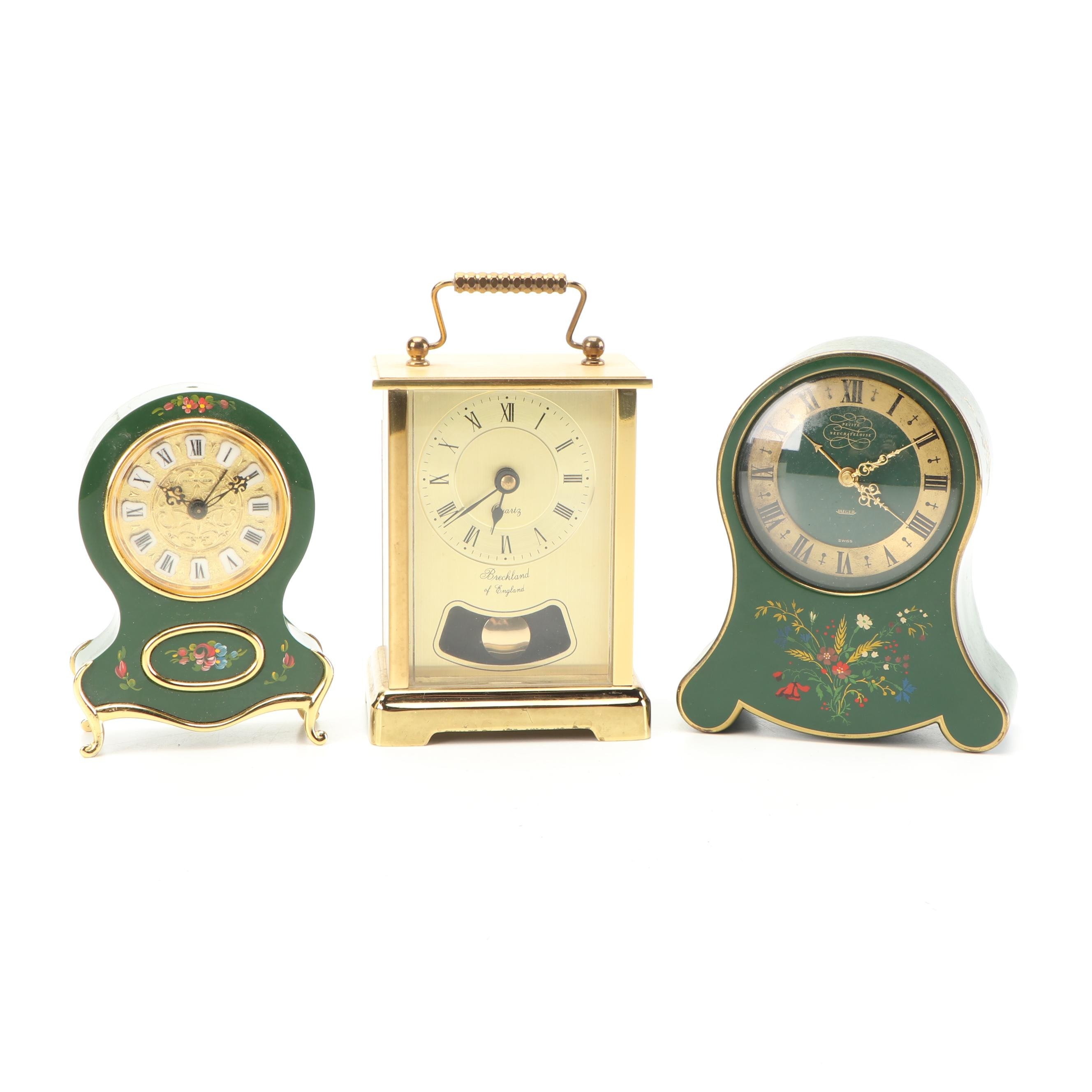 Desk Clocks Including Breckland and Jaeger