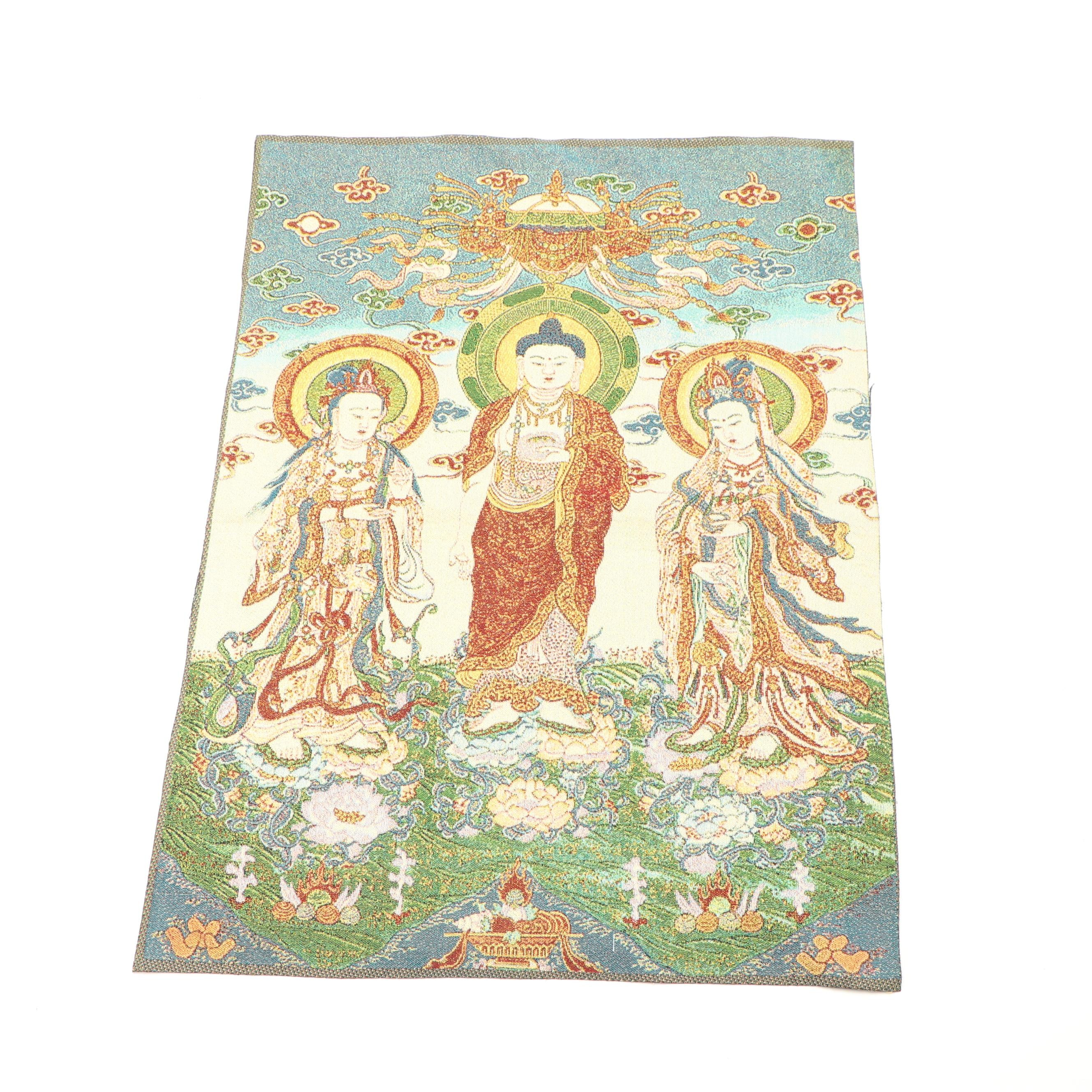 """Buddhas of the Three Times"" Tapestry Panel"