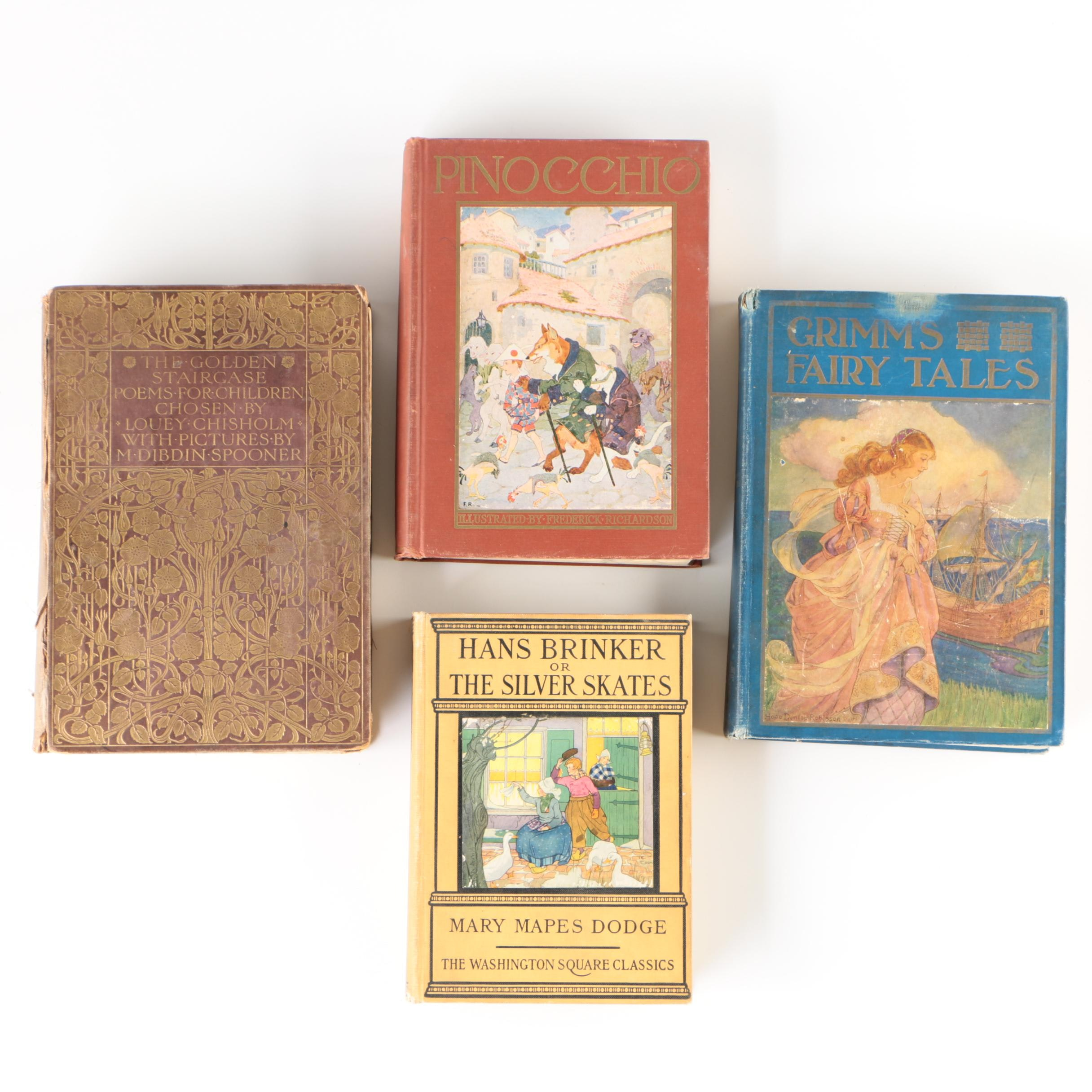 """Children's Books featuring """"Grimm's Fairy Tales"""" and """"Pinocchio"""""""