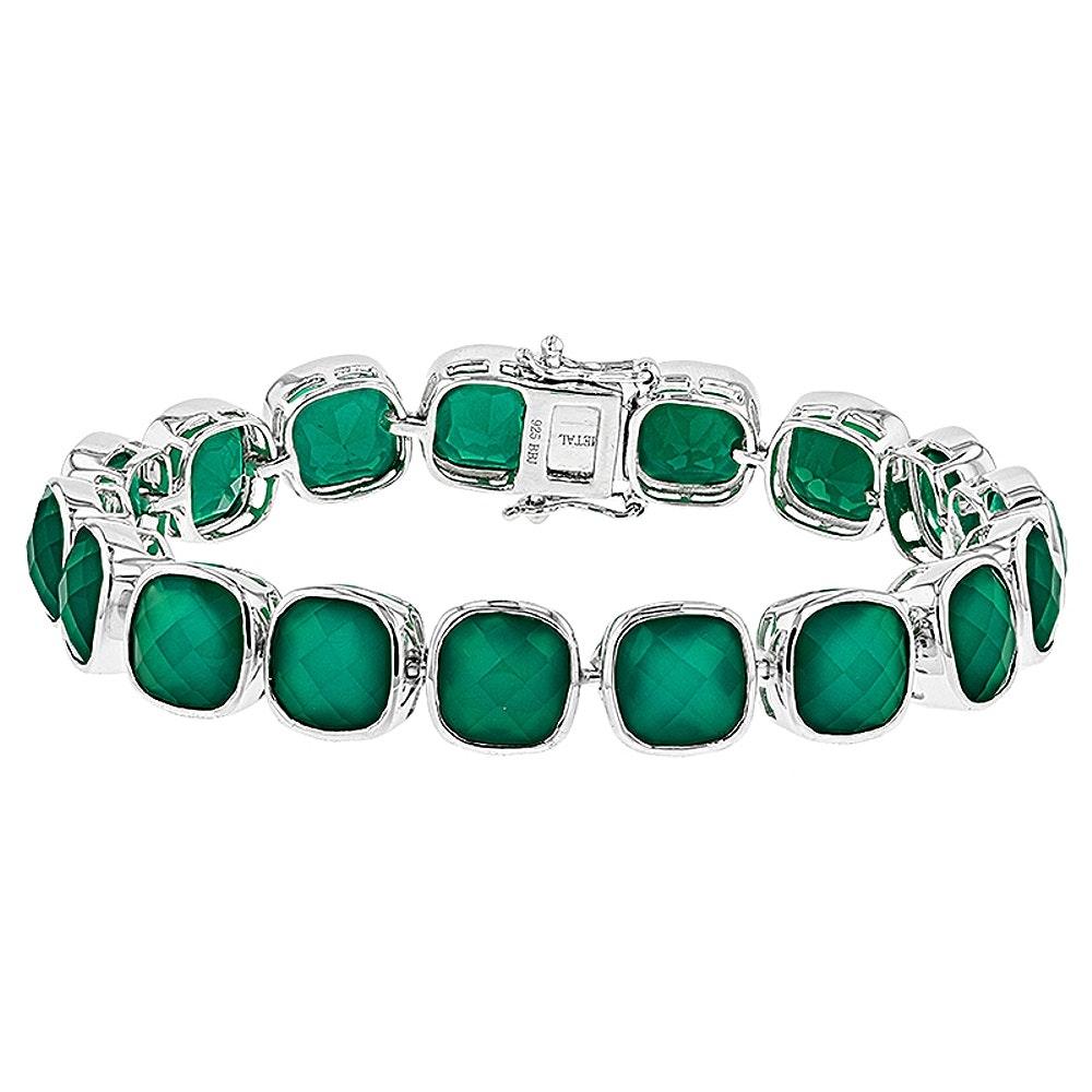 Sterling Silver Onyx Bracelet