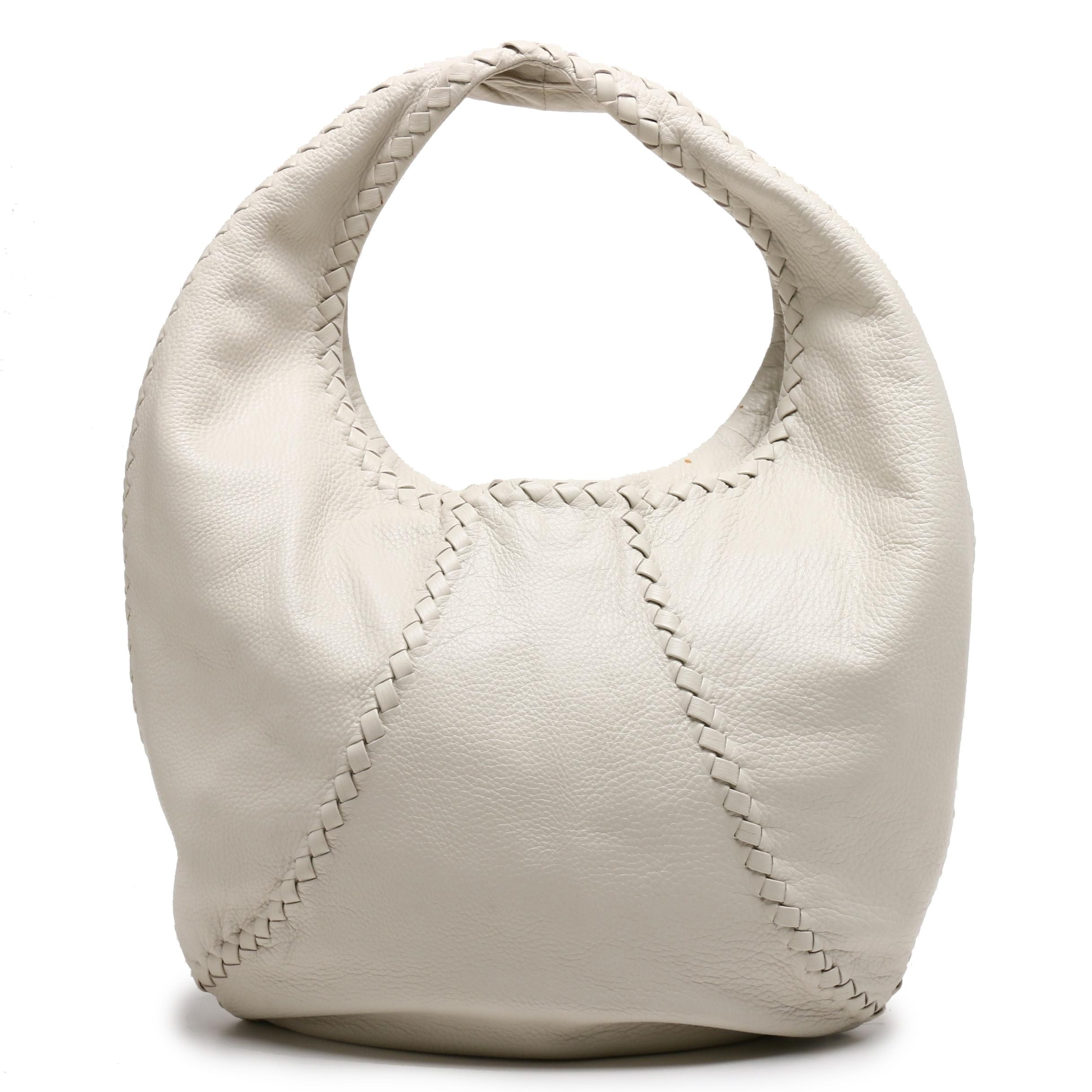 Bottega Veneta Bone Leather Hobo Bag