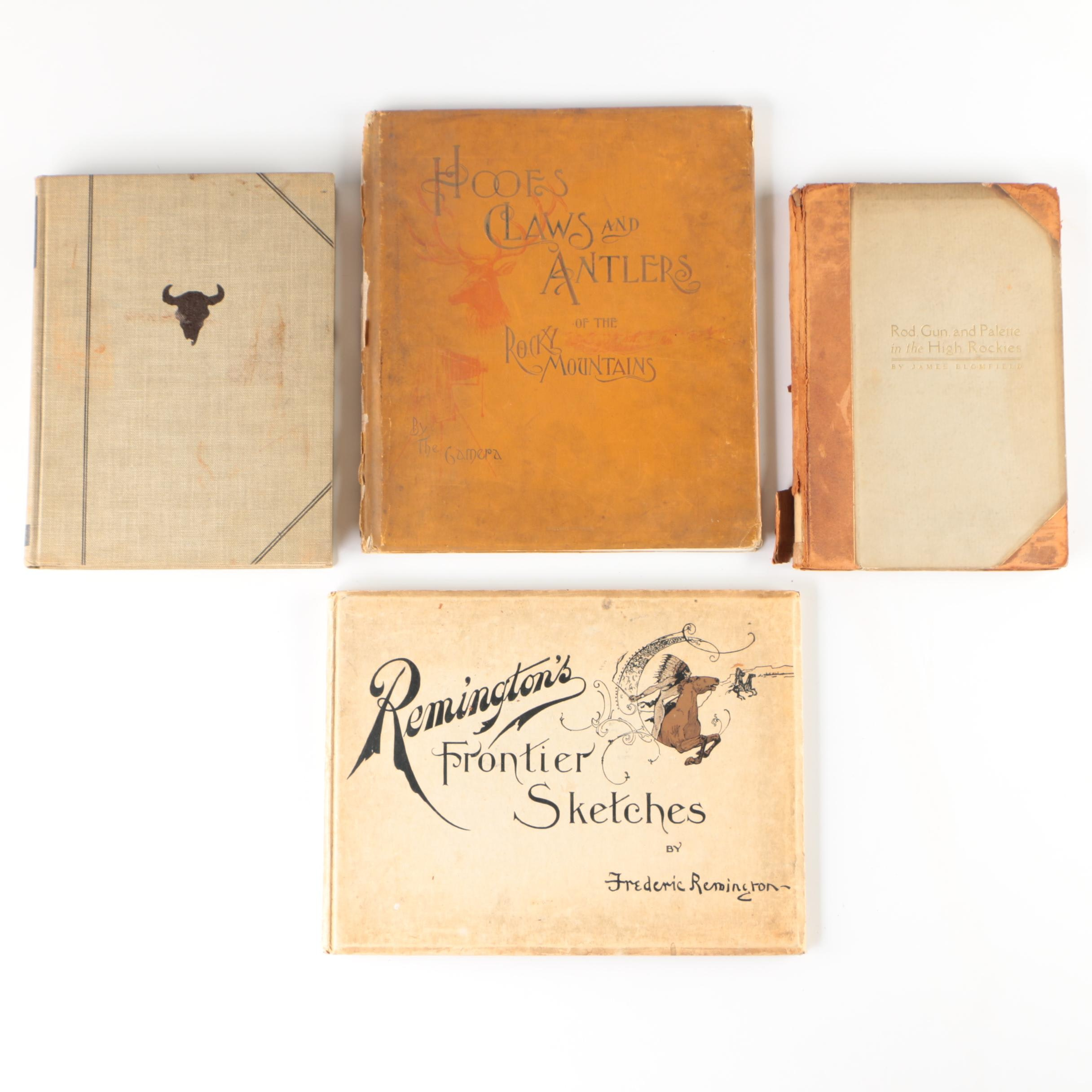 "1898 ""Remington's Frontier Sketches"" and Other Western Lifestyle Books"