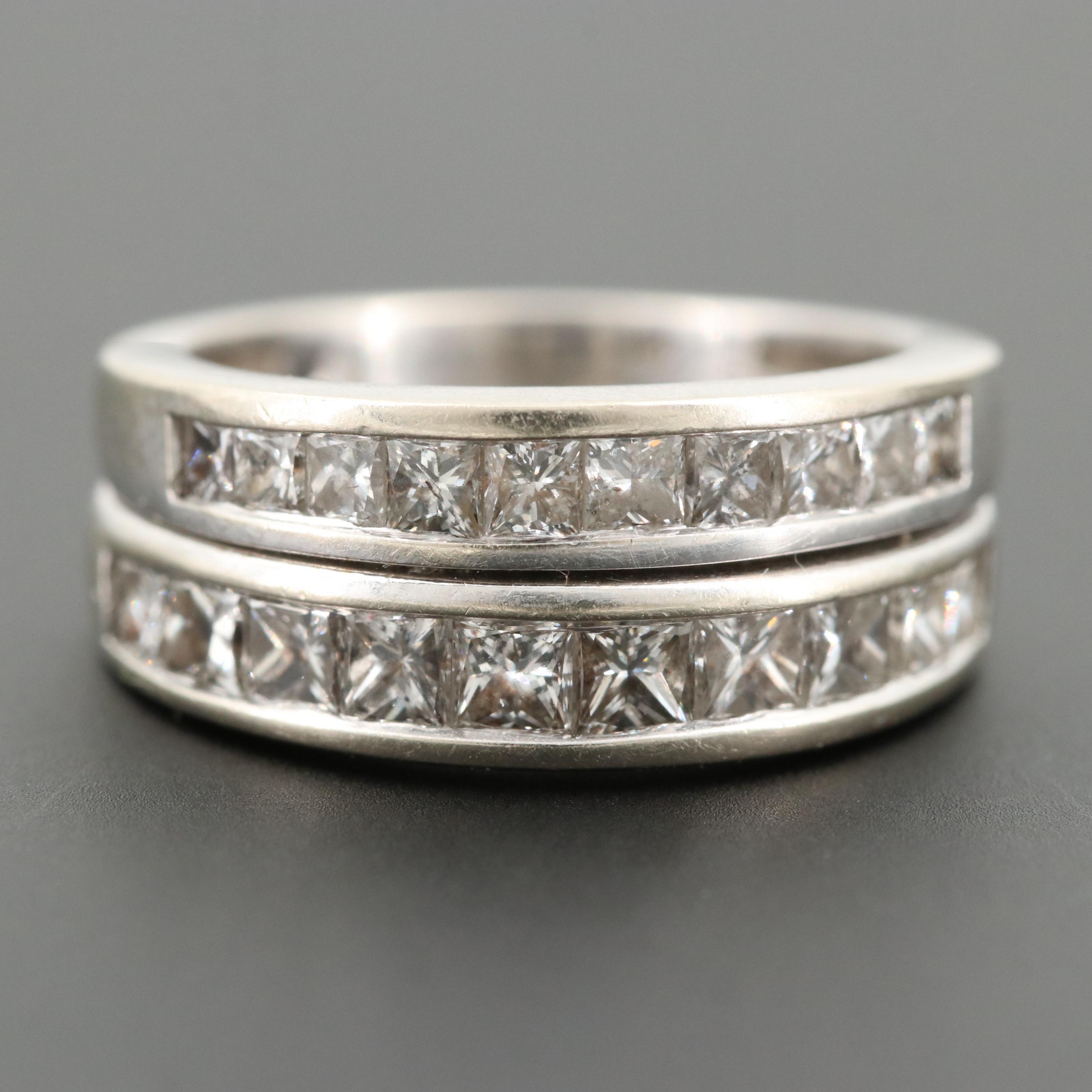 14K White Gold 1.60 CTW Diamond Ring
