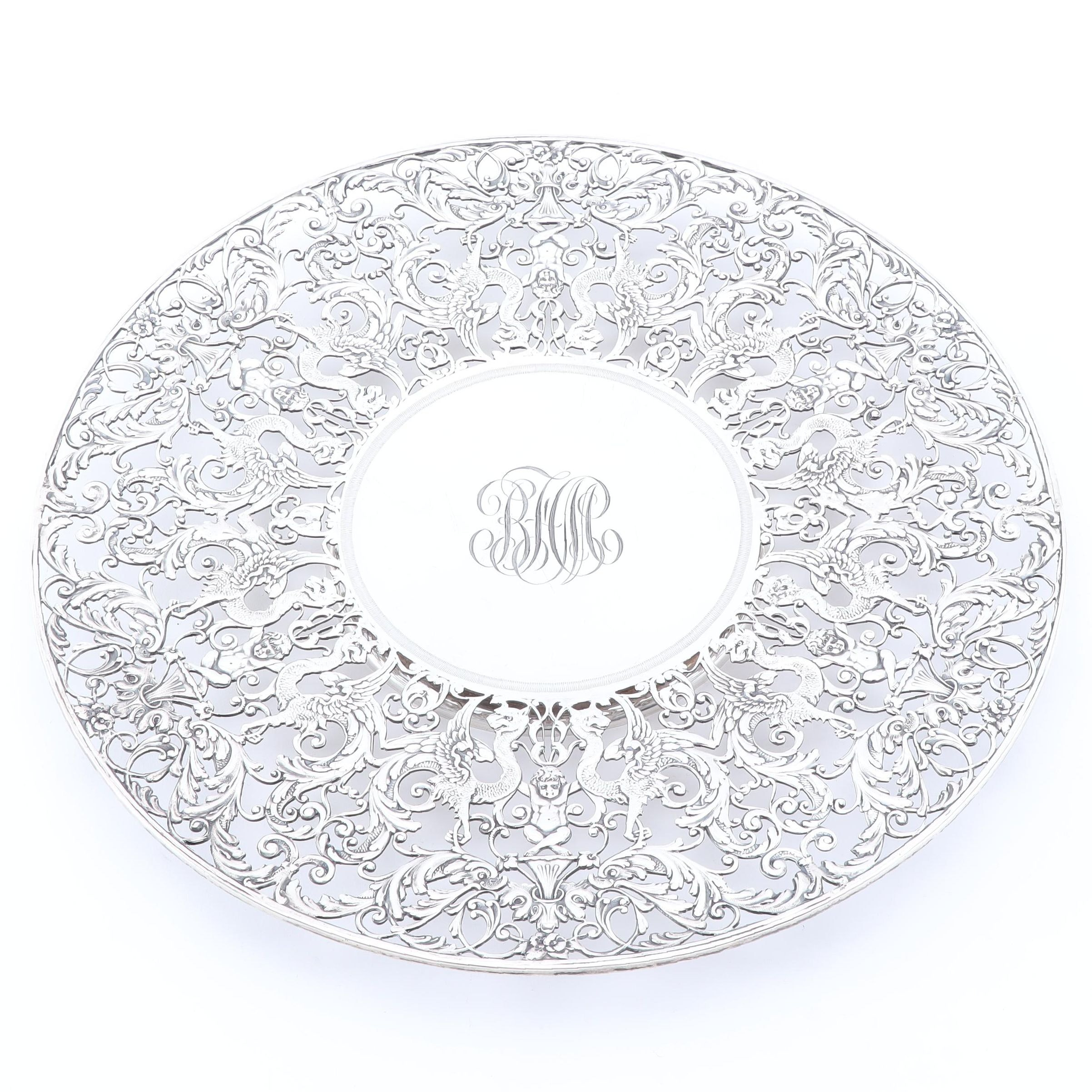 Roger Williams Sterling Silver Cake Stand, Early 20th Century