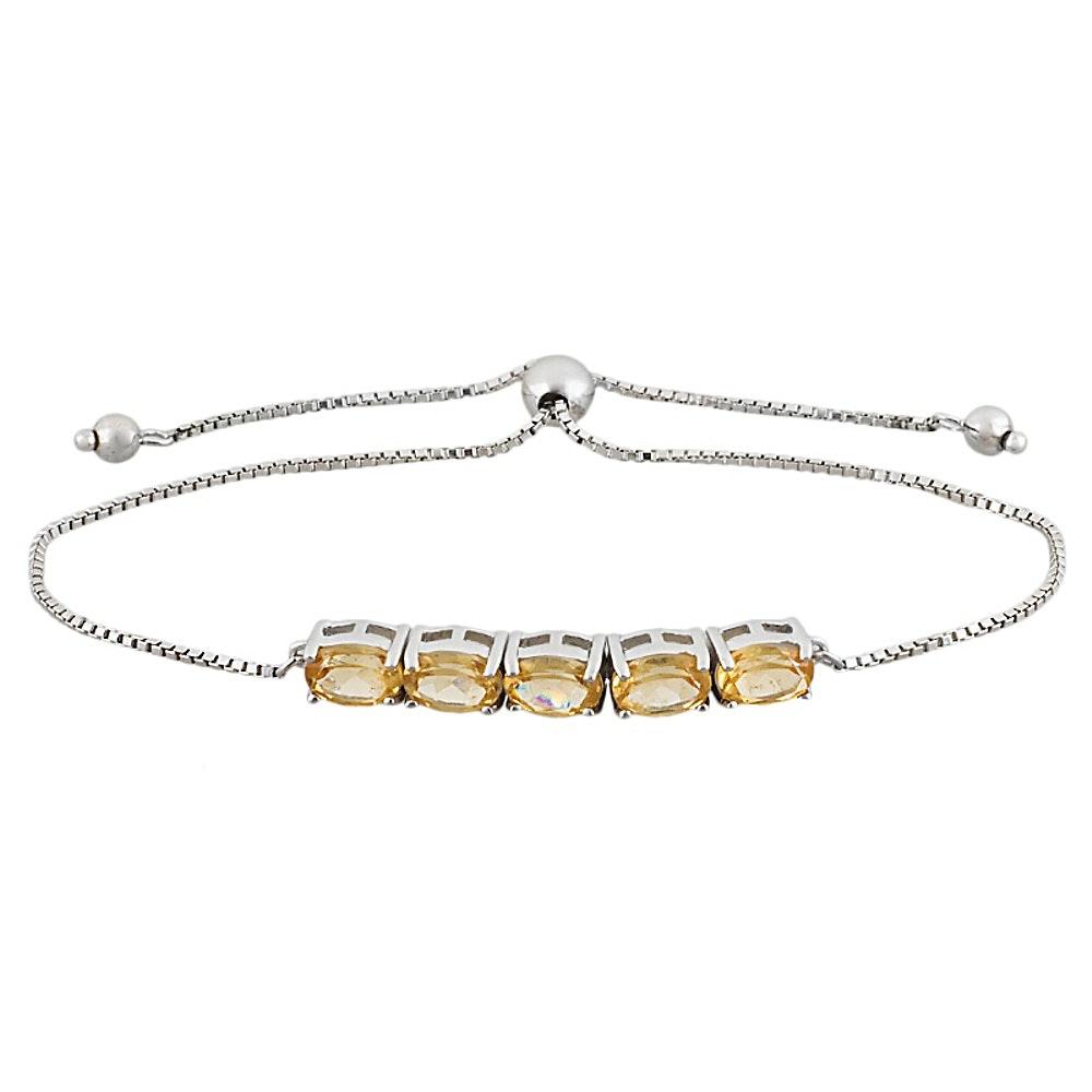 Sterling Silver Hessonite Bracelet