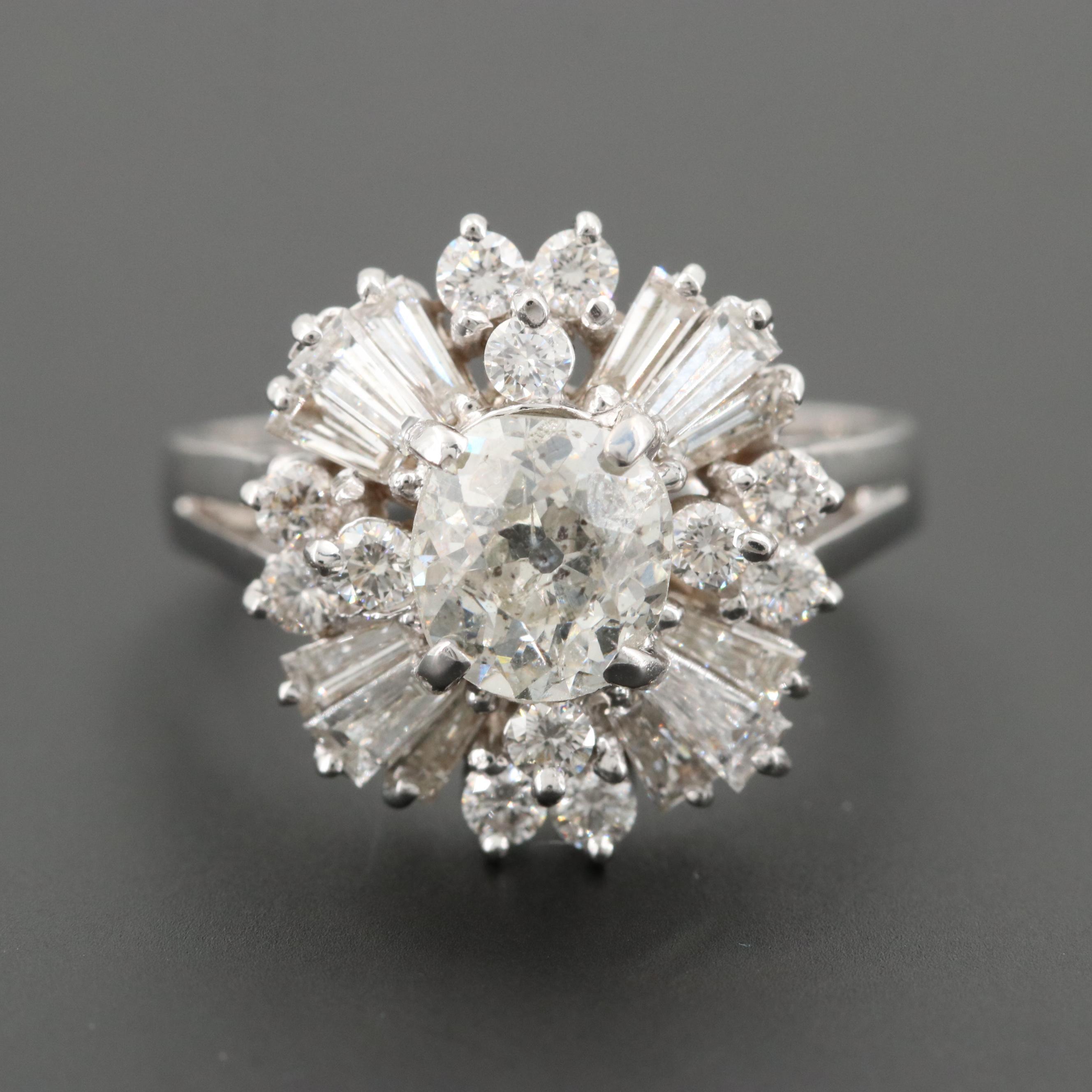 18K White Gold 2.95 CTW Diamond Ring