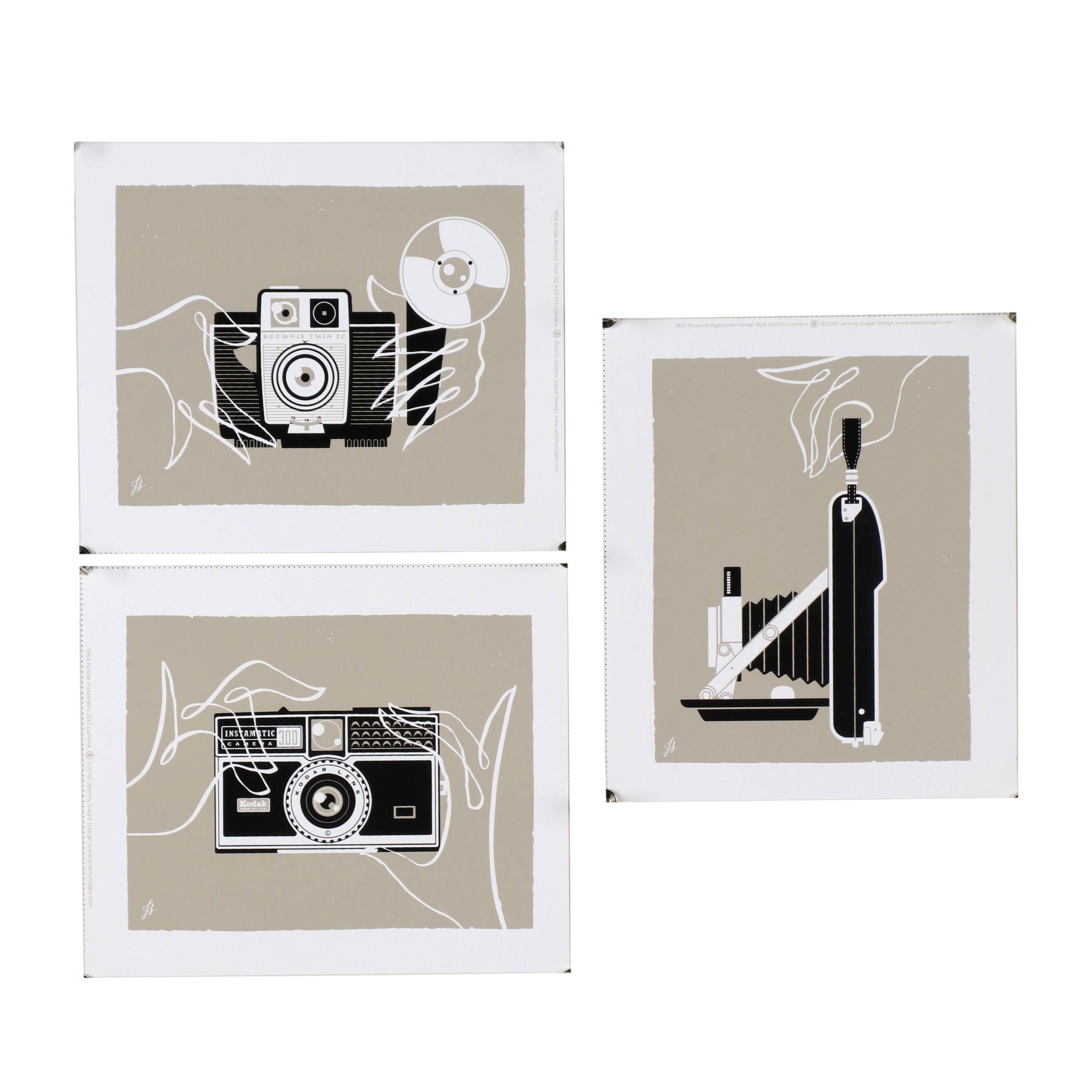 """Jeremy Slagle Serigraphs from """"Vintage Cameras"""" Series"""