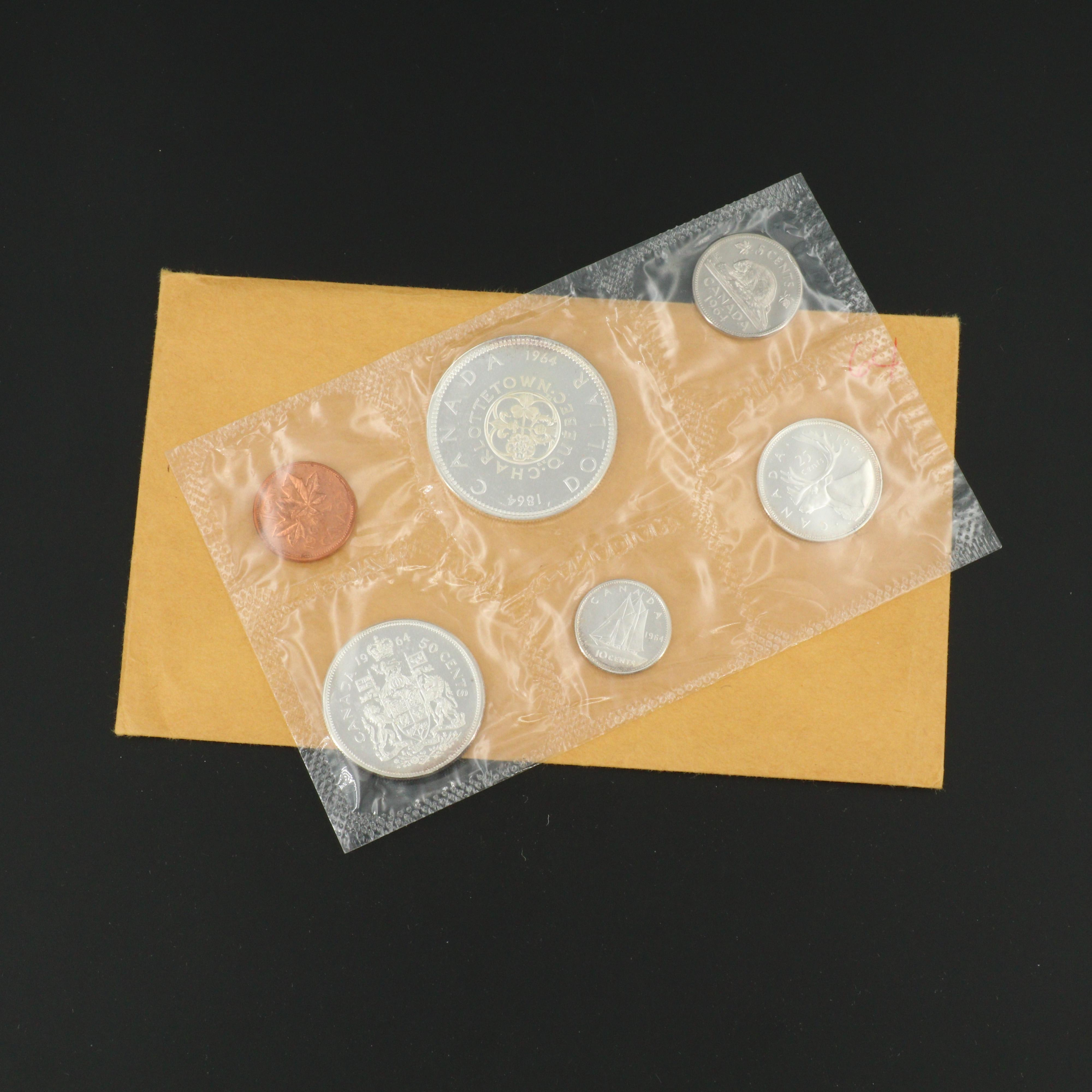 1964 Canadian Uncirculated Silver Coin Set