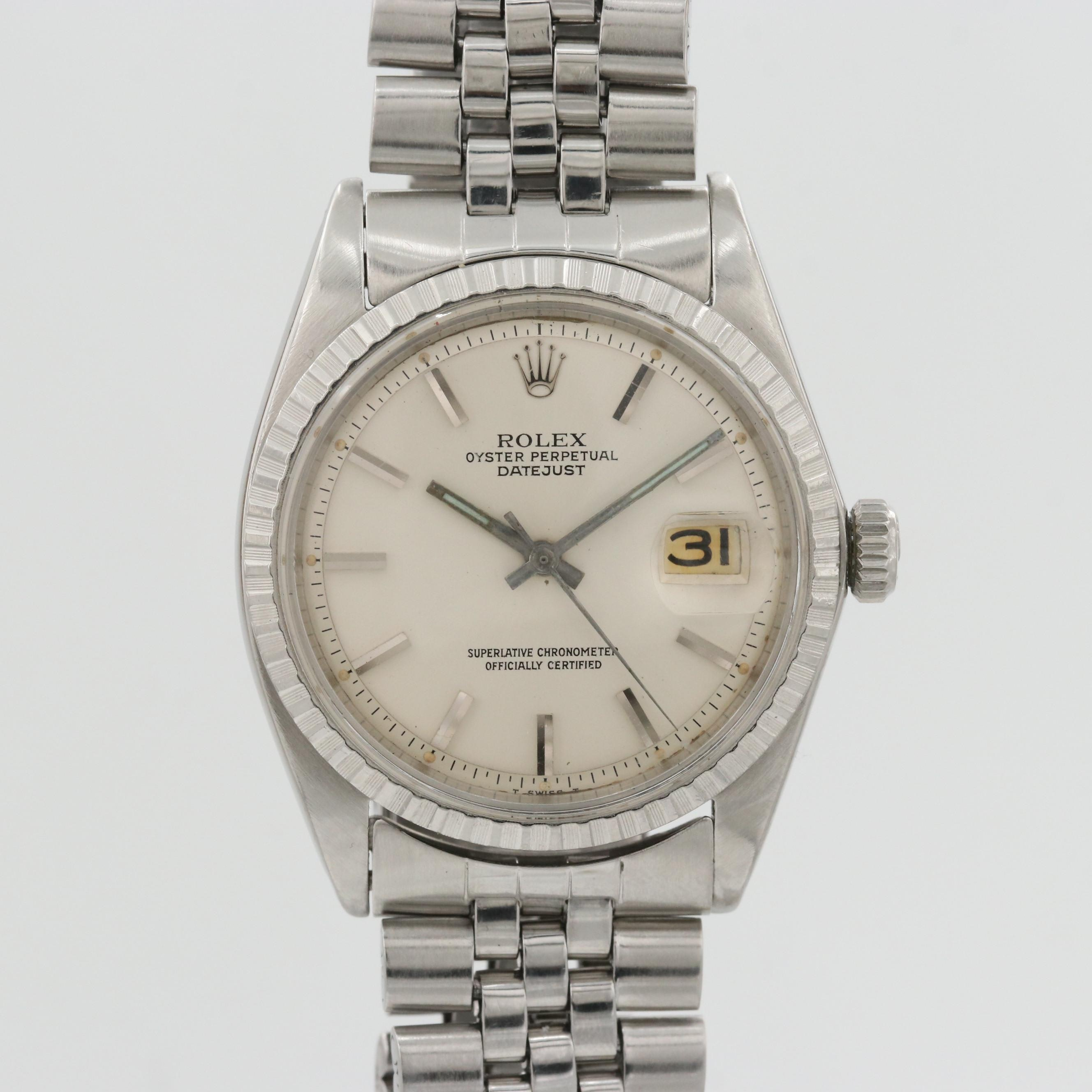 Vintage Rolex Datejust Stainless Steel Automatic Wristwatch, 1965