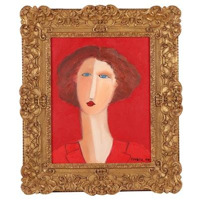 Favola Portrait Acrylic Painting