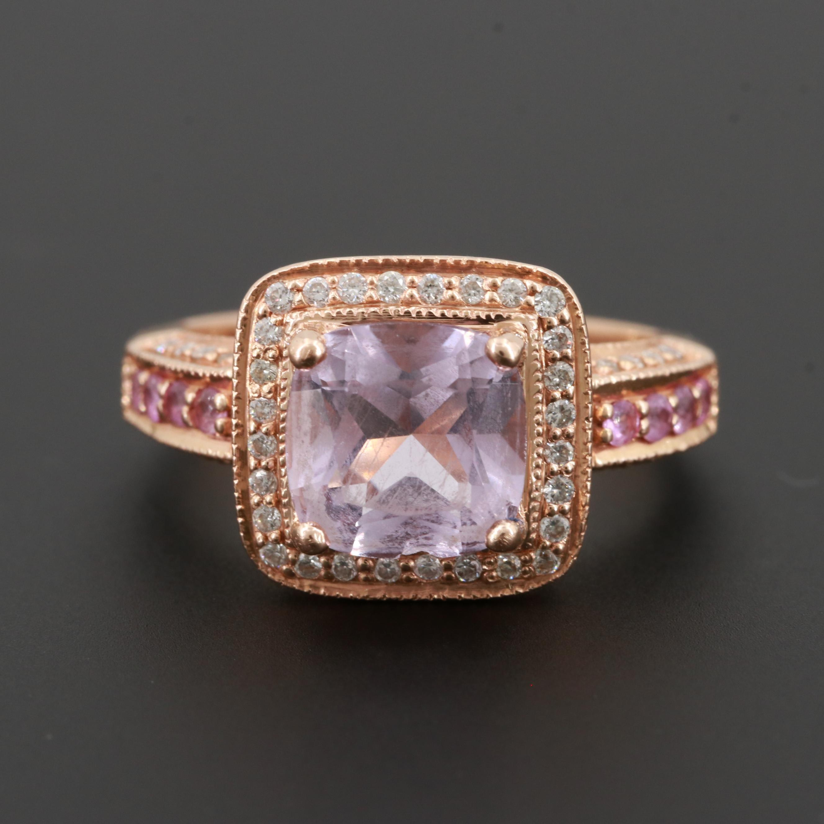 Le Vian 14K Rose Gold Amethyst, Pink Sapphire and Diamond Ring