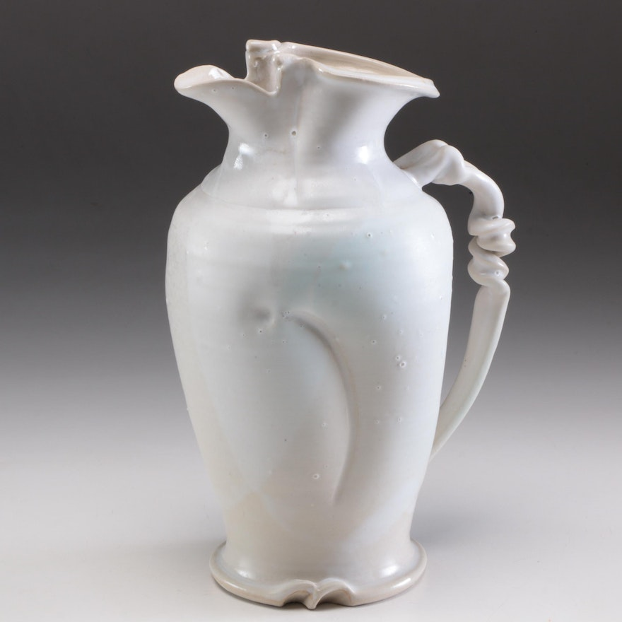 Larry Watson Thrown and Altered Porcelain Pitcher, 2011