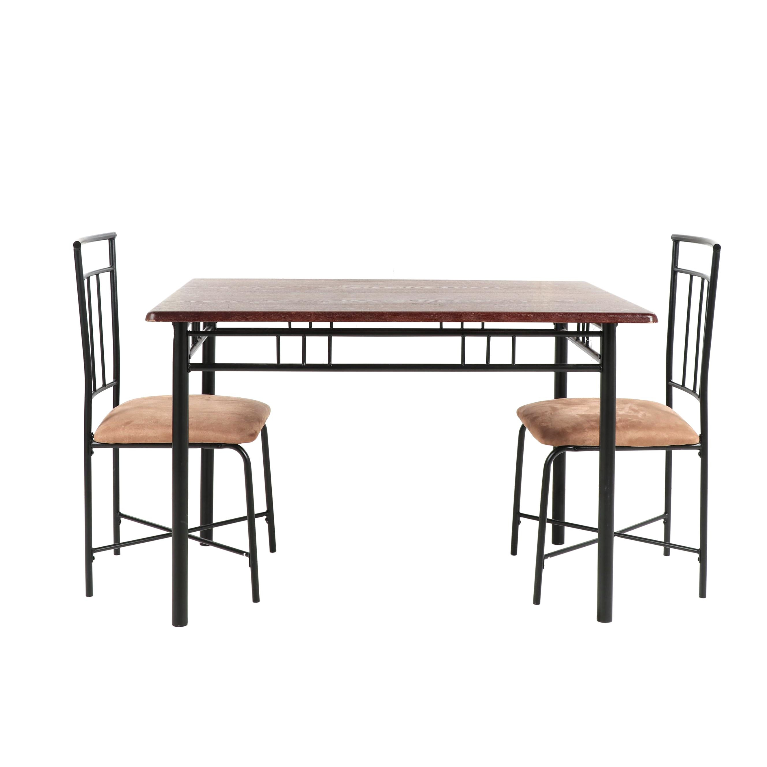 Contemporary Wooden Table with Pair of Side Chairs