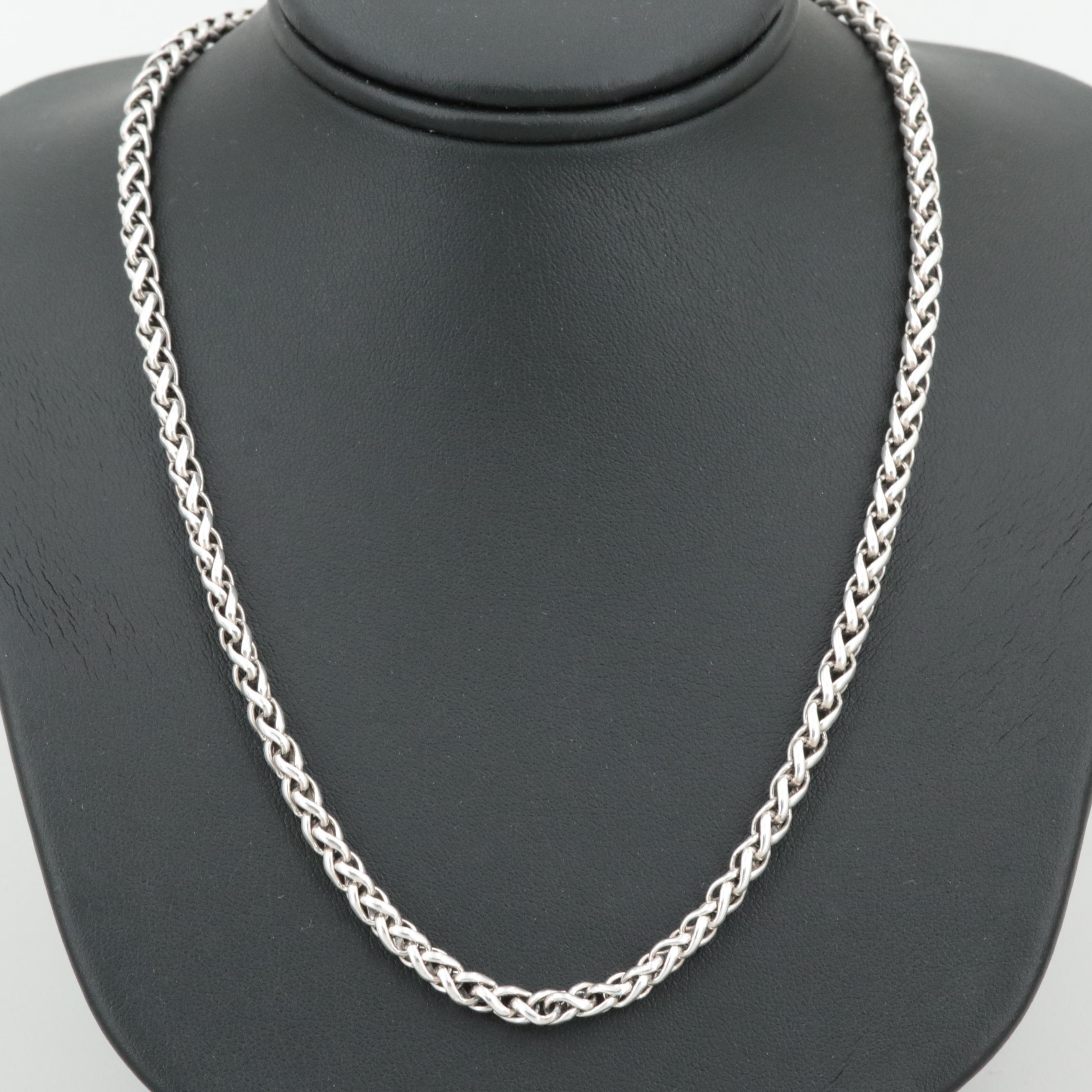 David Yurman Sterling Silver Wheat Link Chain