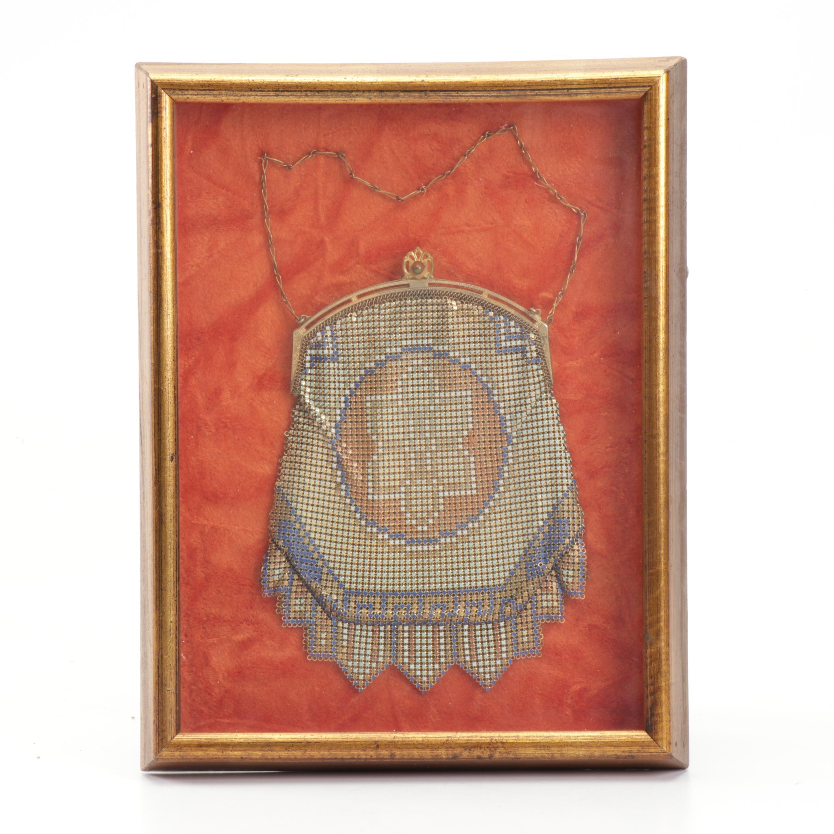Framed Mesh Flapper Purse, 1920s