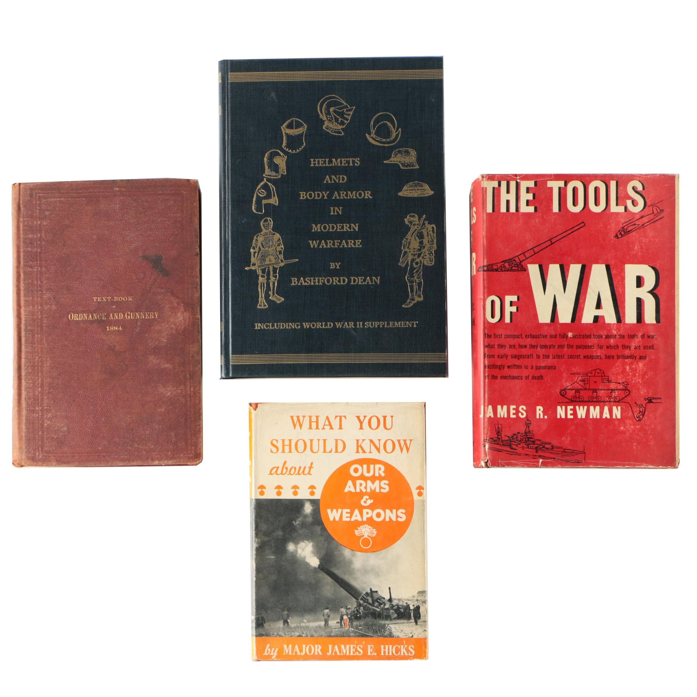 "Military Arms and Armor Books featuring ""The Tools of War"" by James R. Newman"