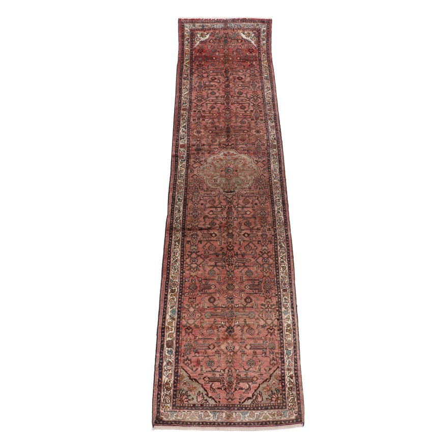 Hand-Knotted Persian Zanjan Wool Carpet Runner