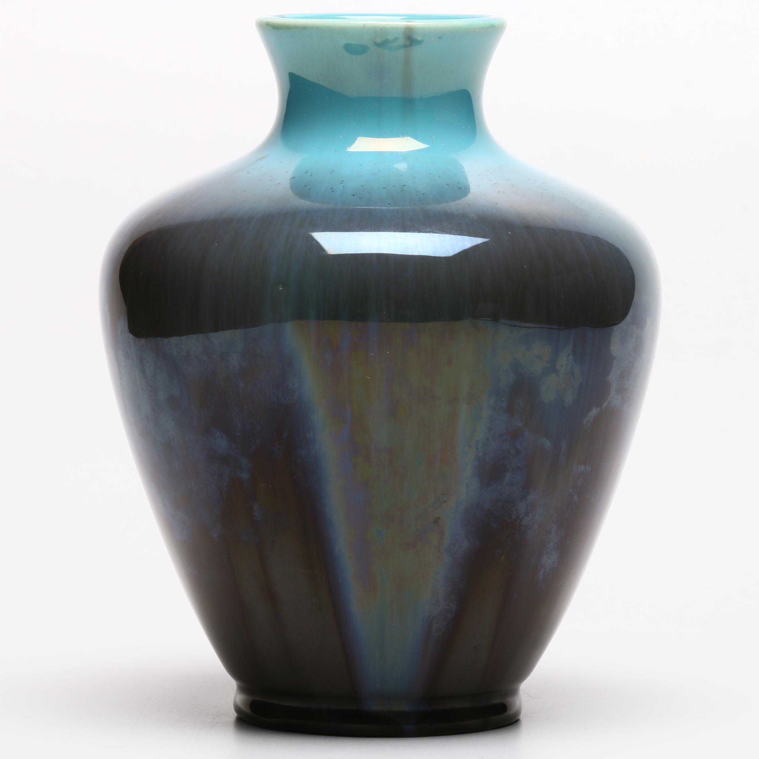 Rookwood Pottery Drip Glaze Vase, 1932