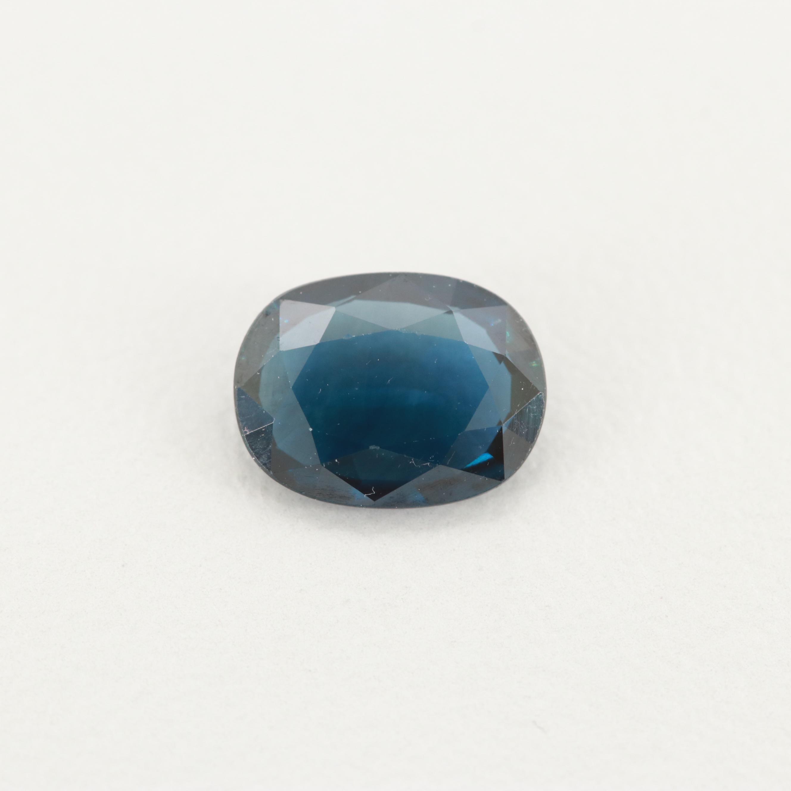 Loose 1.22 CT Sapphire Gemstone