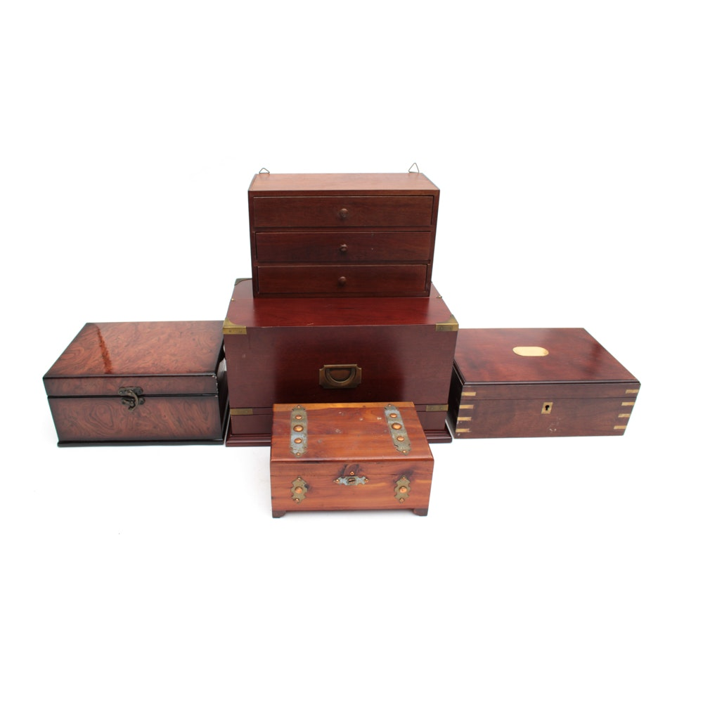 Decorative Wooden Boxes and Organizers