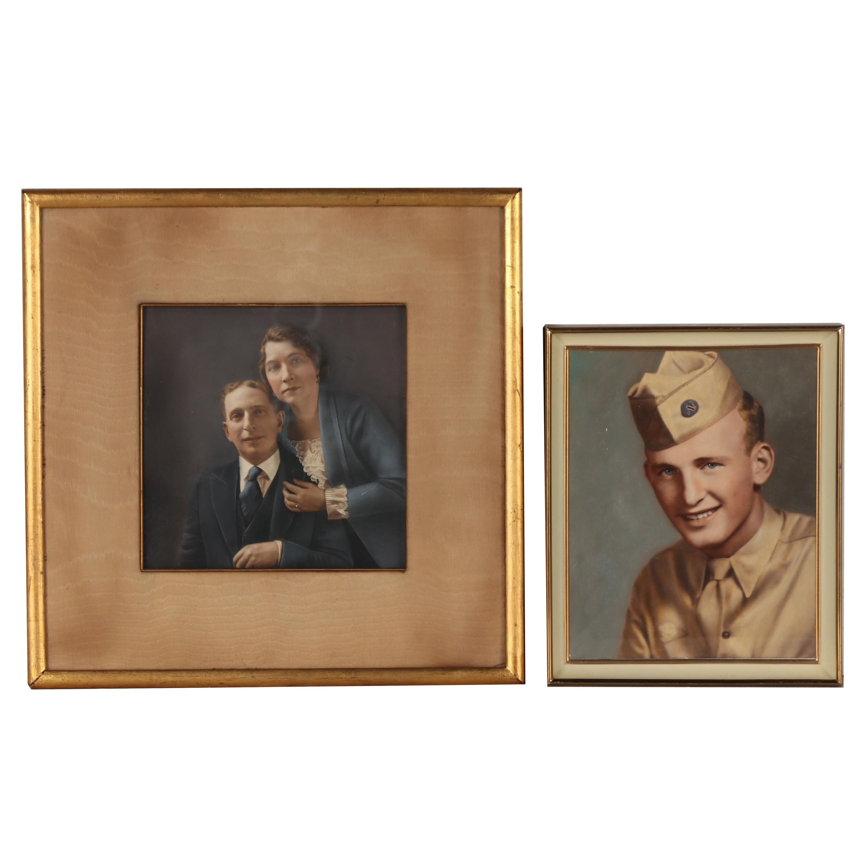 U.S. Army Pacific Military and Early 20th Century Crayon Portraits