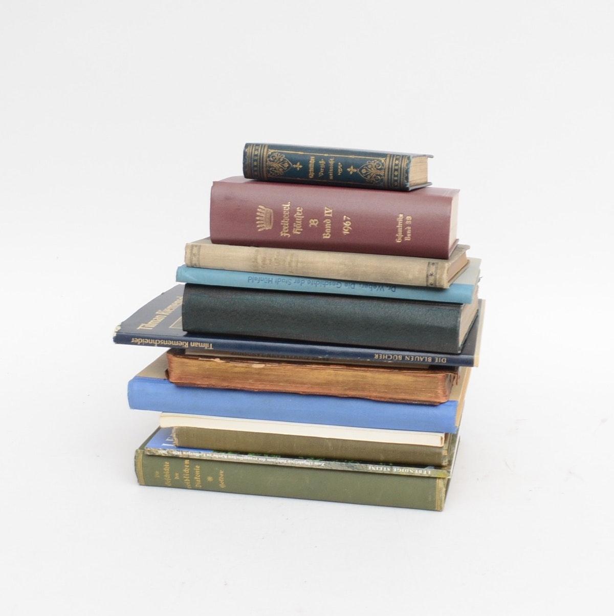 """German Language Book Collection featuring """"Christliches Verikmeinnicht"""""""
