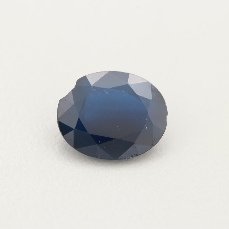 Loose 2.86 CT Sapphire Gemstone