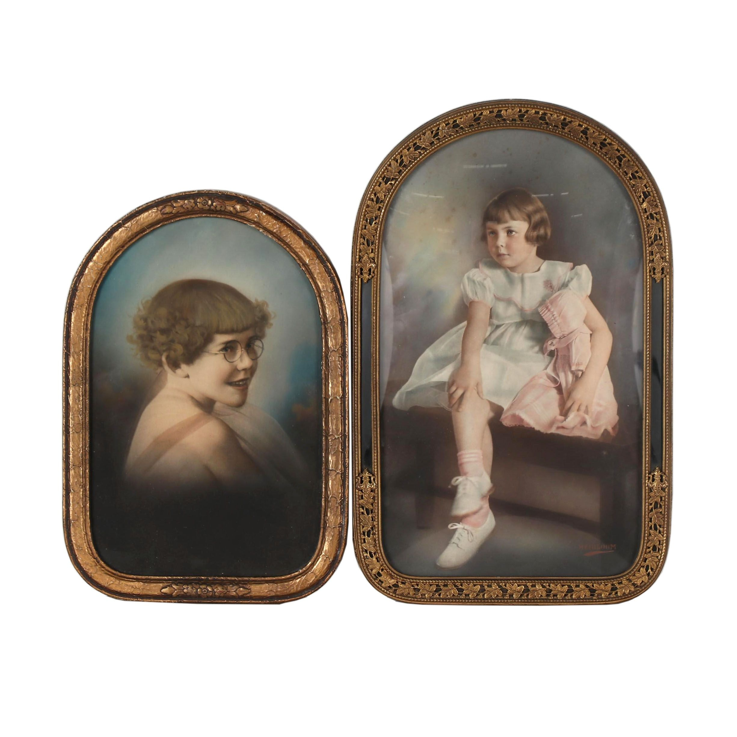 Early 20th Century Crayon Portraits