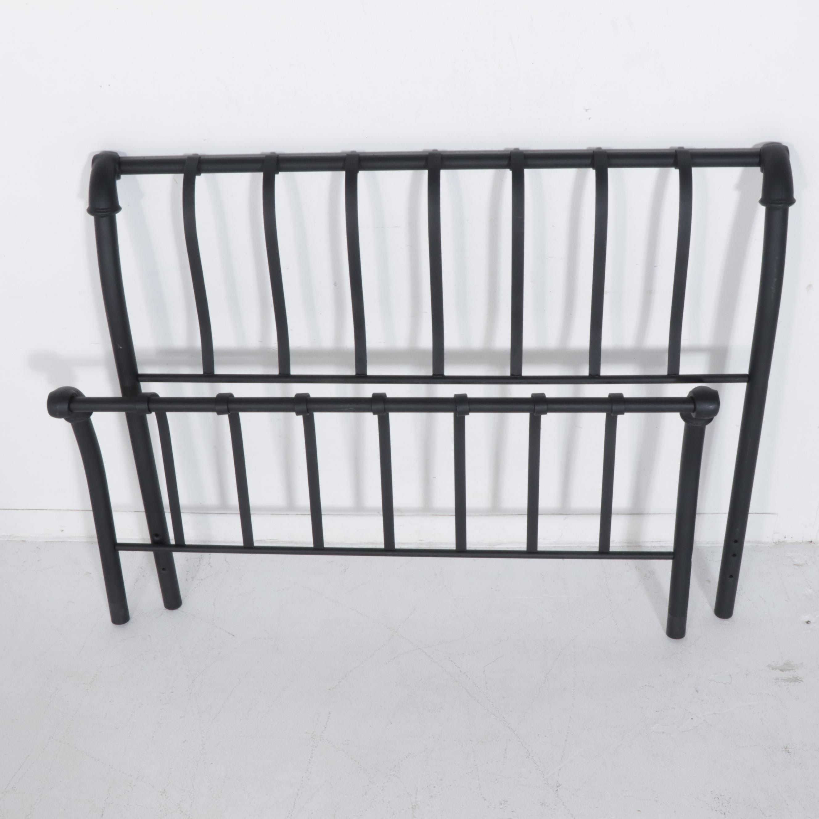 Contemporary Black Metal Full Size Bed Frame