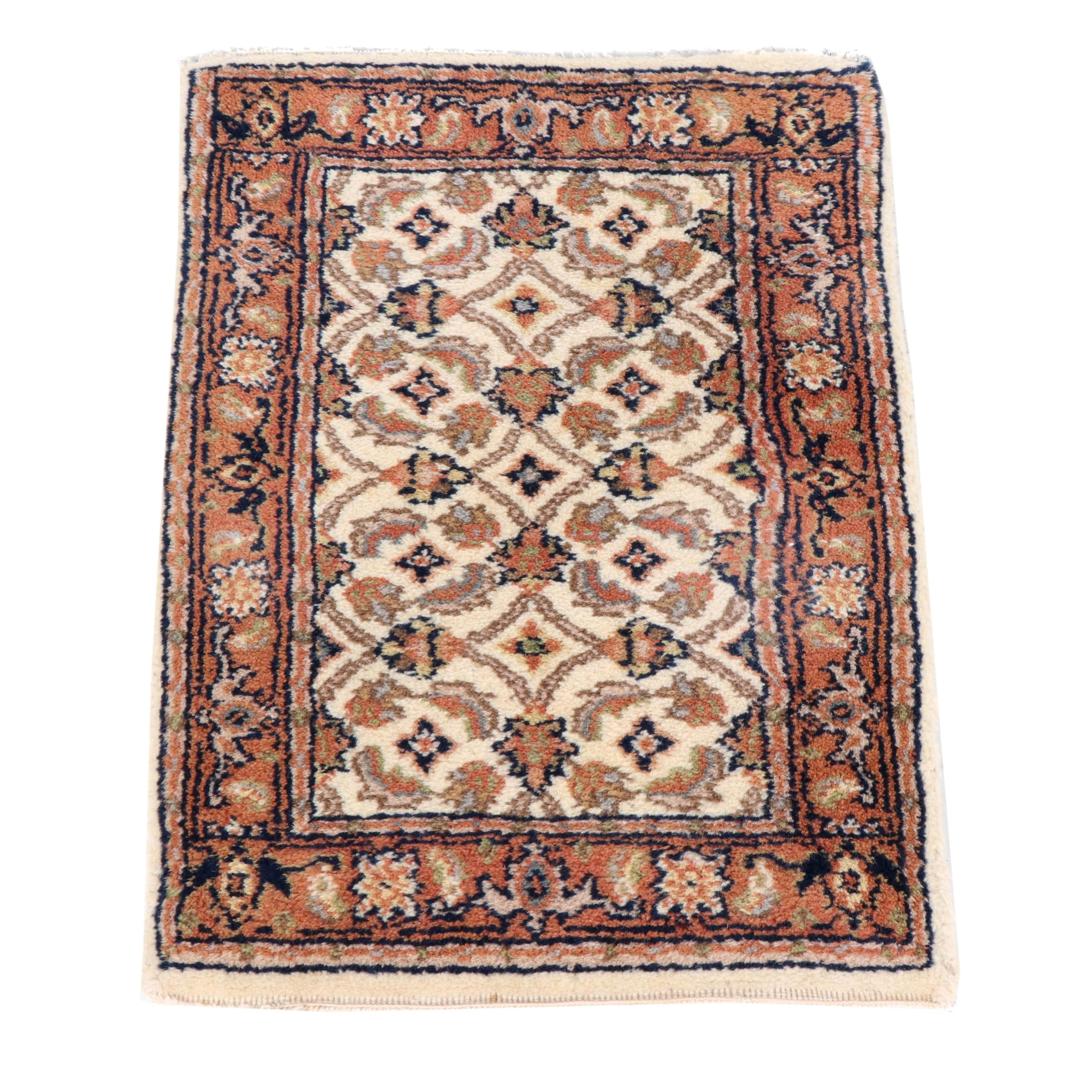 Hand-Knotted Indo-Persian Bijar Wool Rug