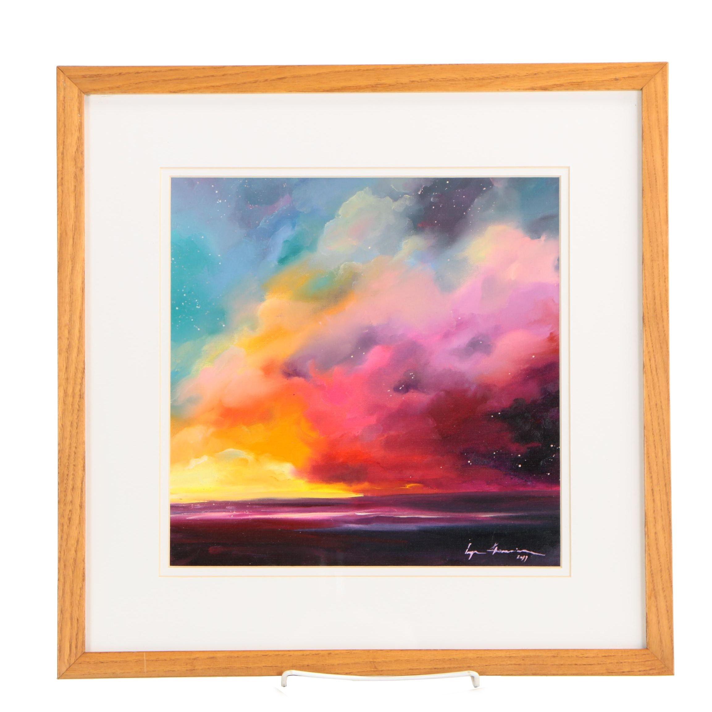 Inga Khanarina Oil Painting of Seascape