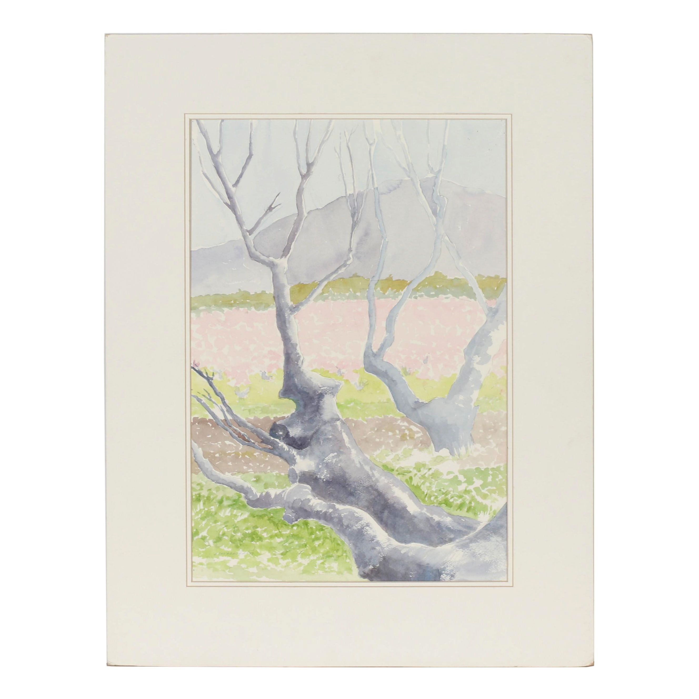 Betty Levasheff Spring Landscape Watercolor Painting