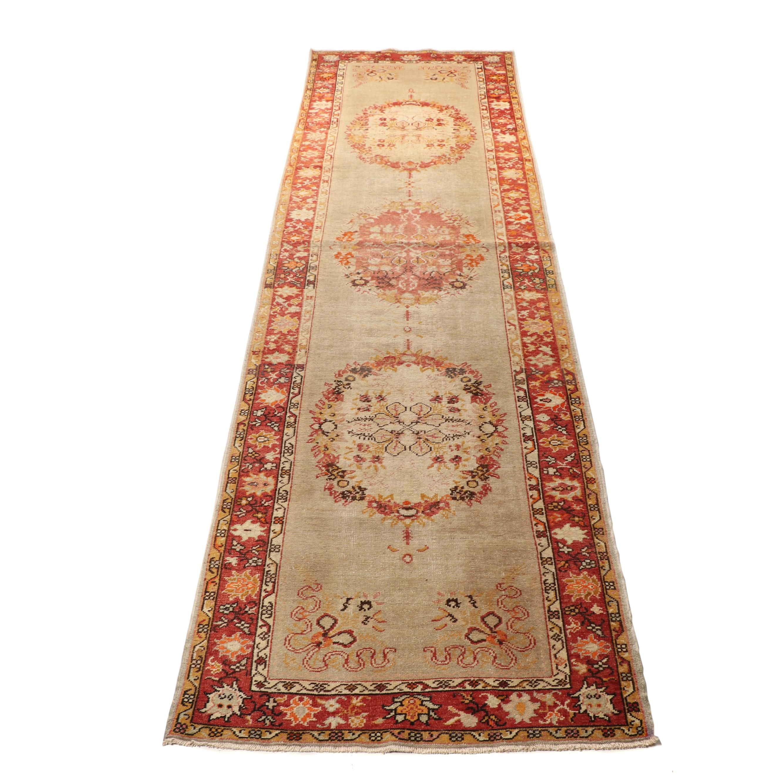 Hand-Knotted Turkish Isparta Wool Rug