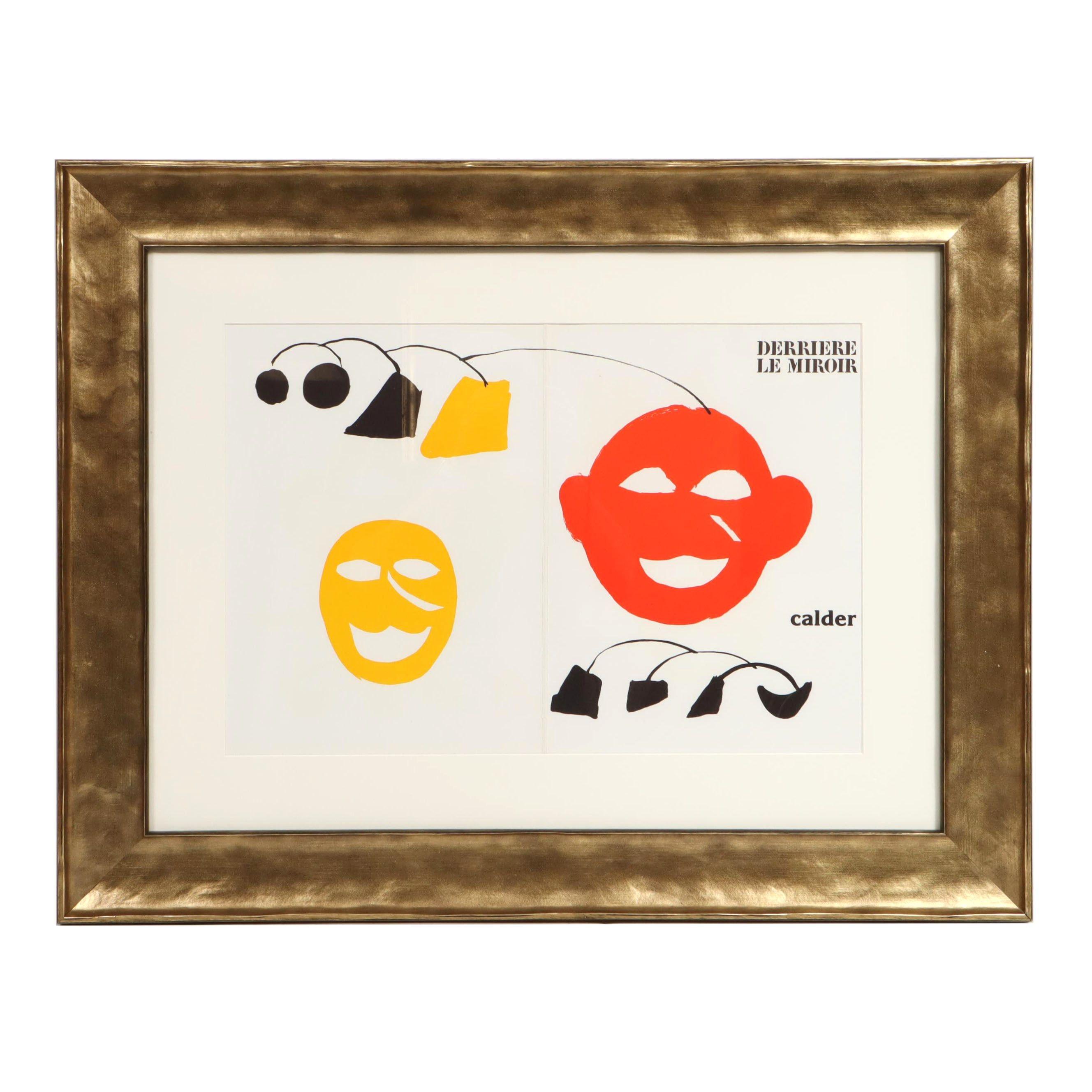 """Alexander Calder Color Lithograph Cover for """"Derrière le Miroir"""""""
