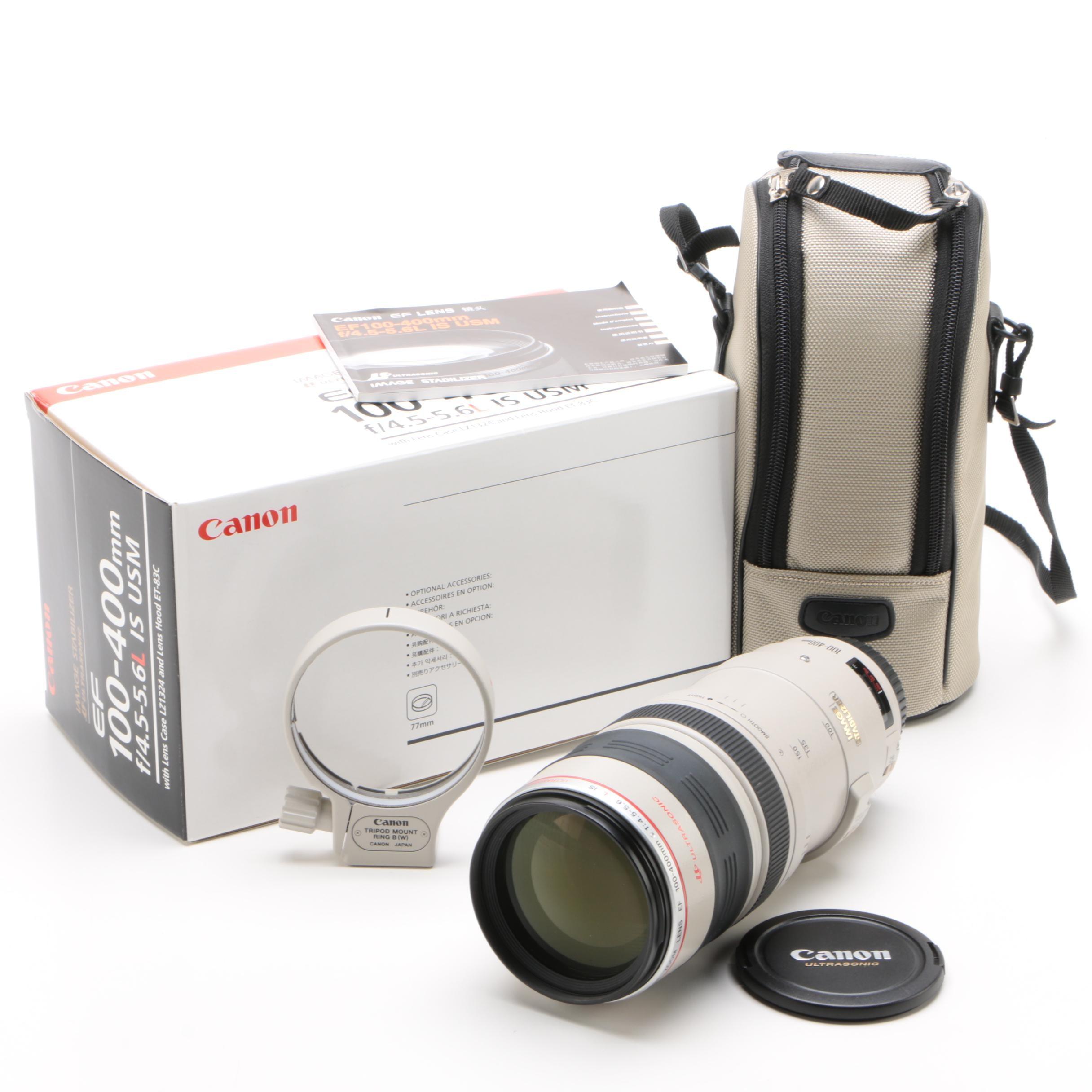 Canon EF 100-400mm f/4.5-5.6L Ultrasonic Macro Lens with Tripod Mount