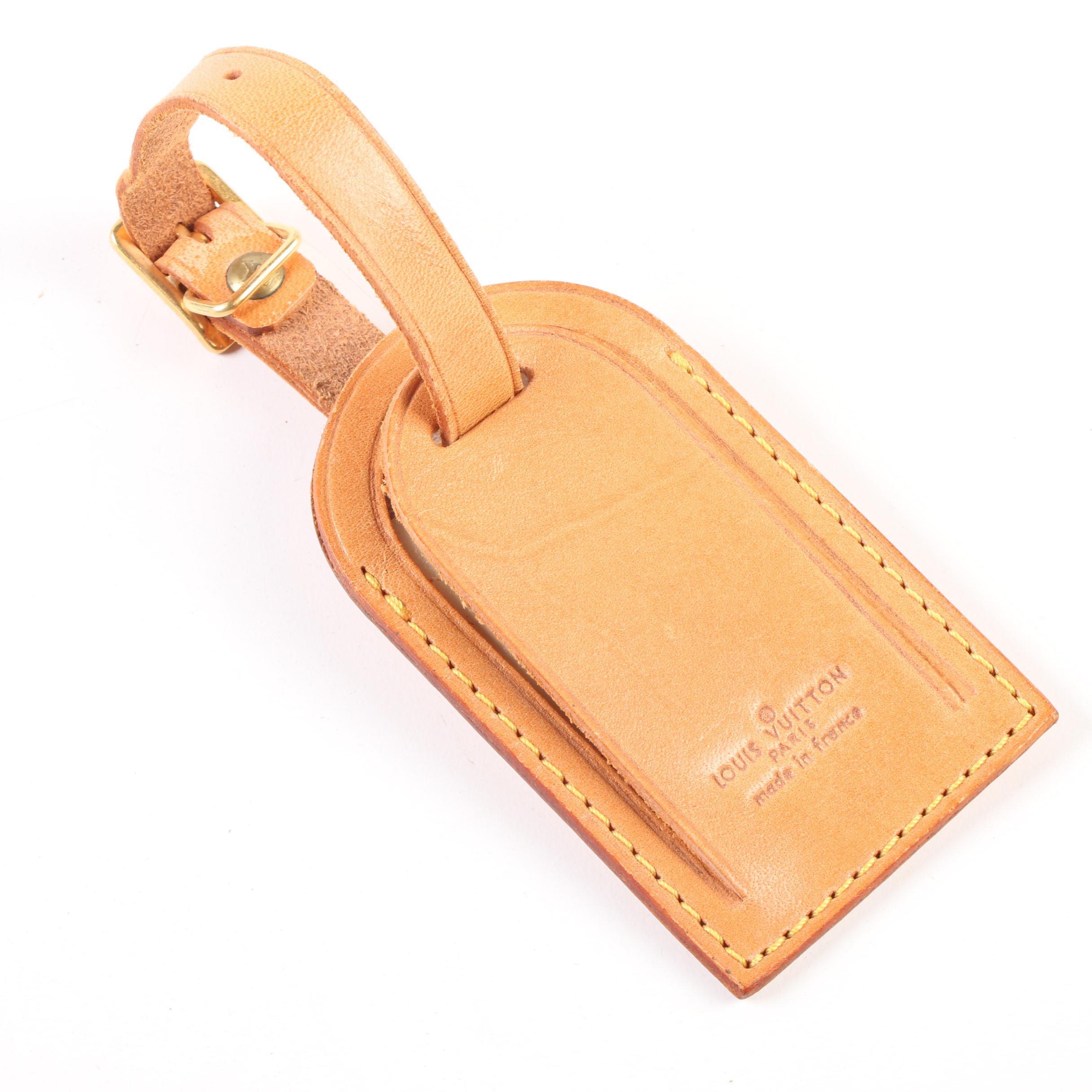 Louis Vuitton Paris Vachetta Leather Luggage Tag