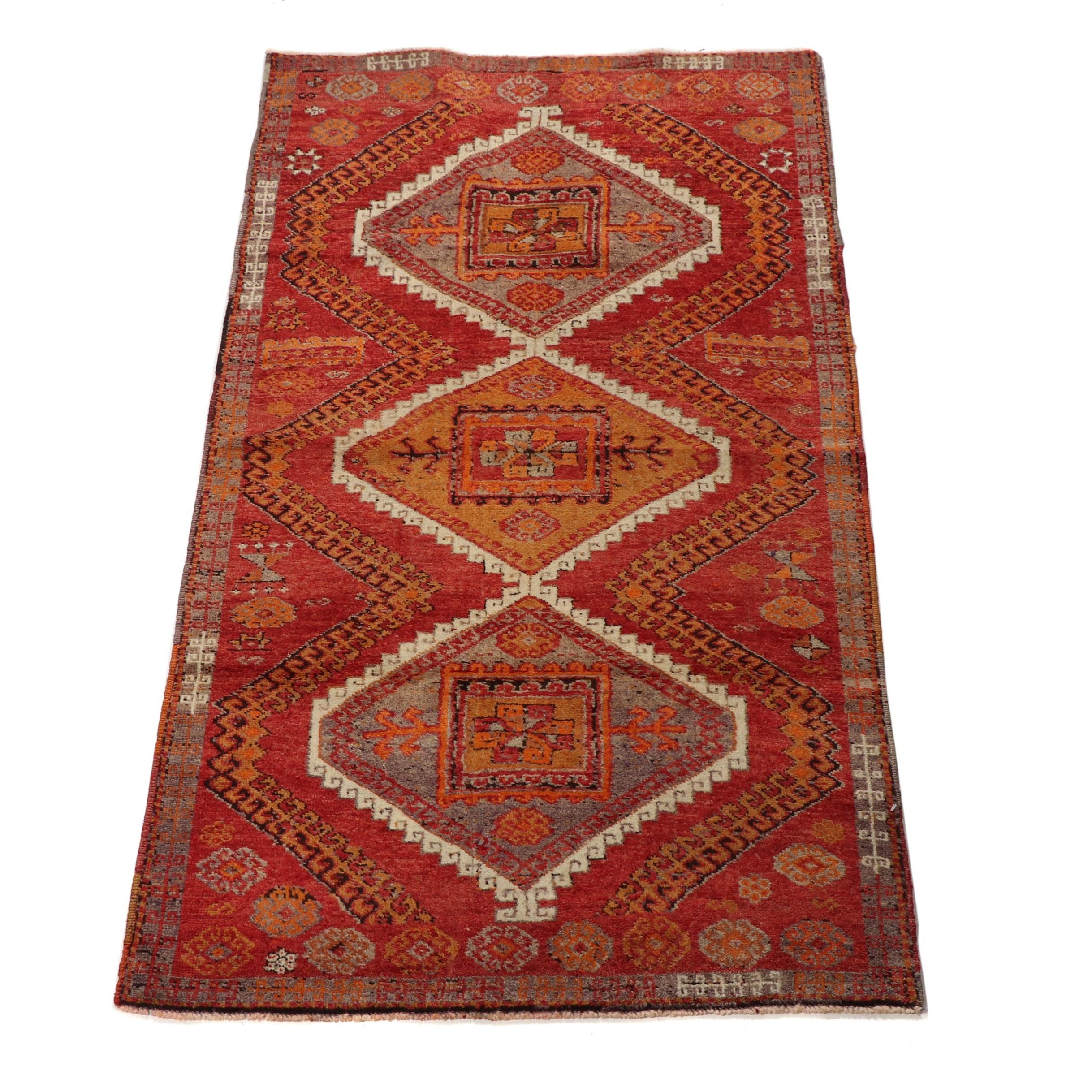 Hand-Knotted Western Anatolian Dazkiri Wool Rug