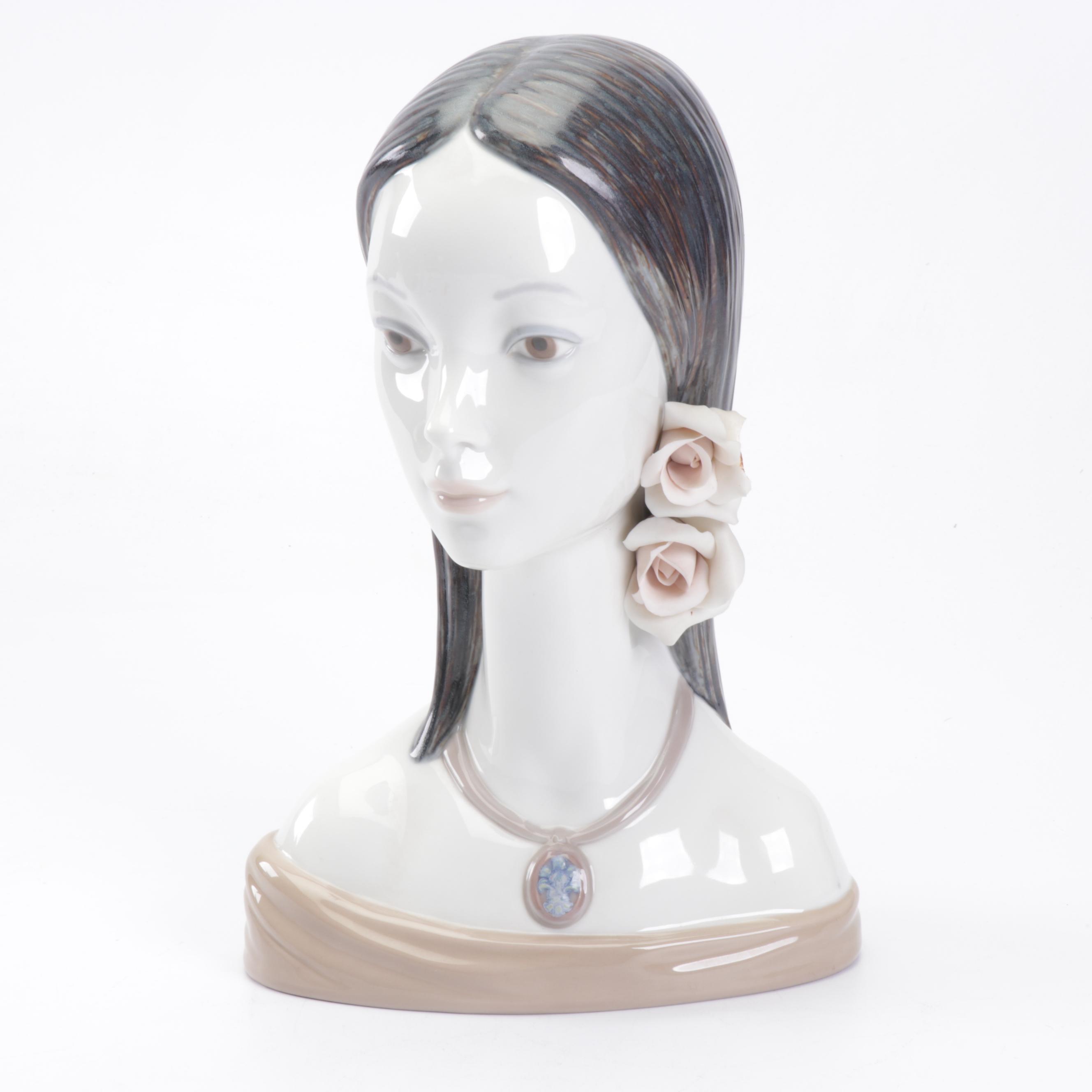 "Lladró Porcelain Bust ""Maja"", 1970s"