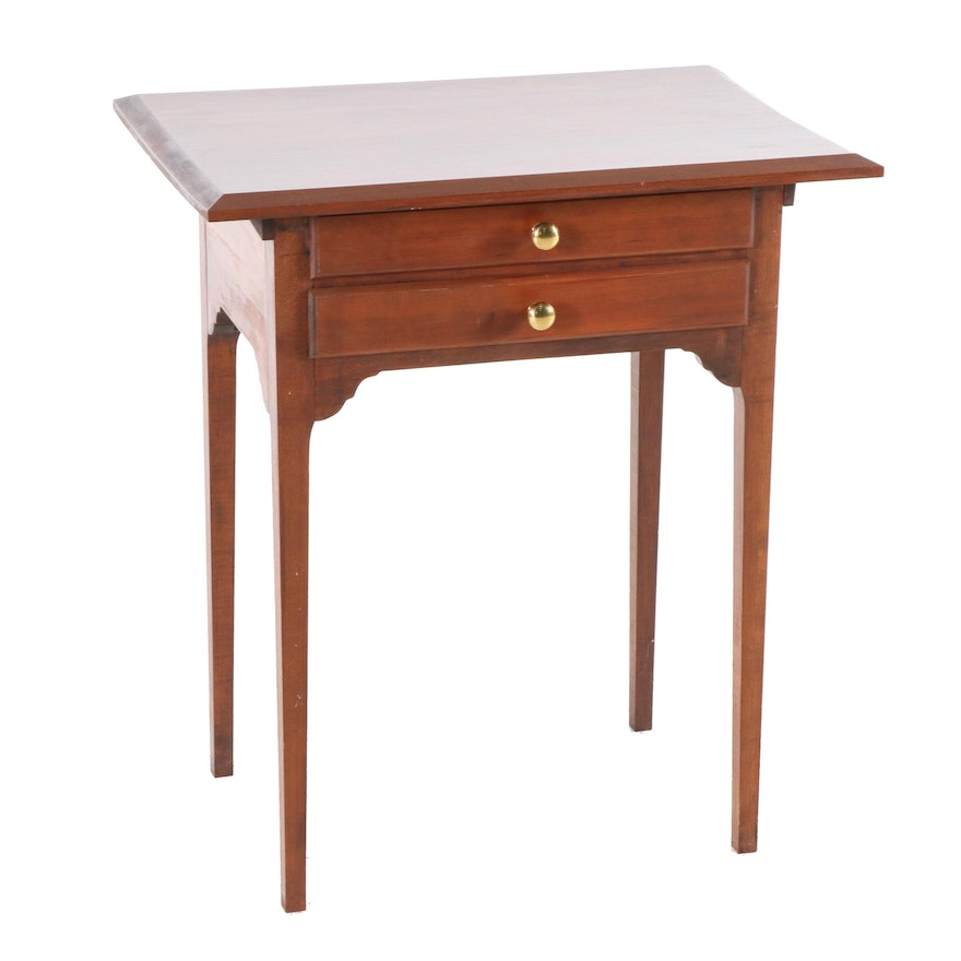 Federal Style Cherry Side Table, Late 20th Century