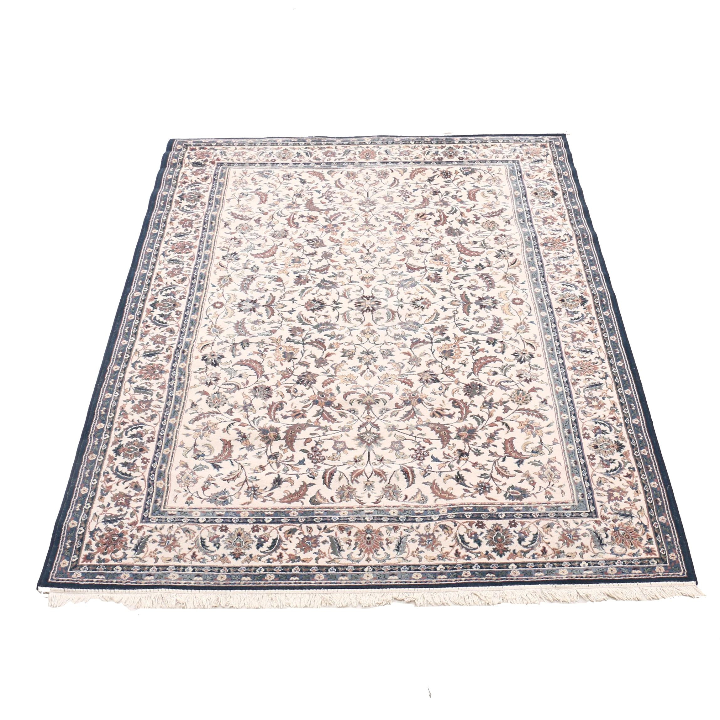 Machine-Made Persian Style Wool Floral Area Rug