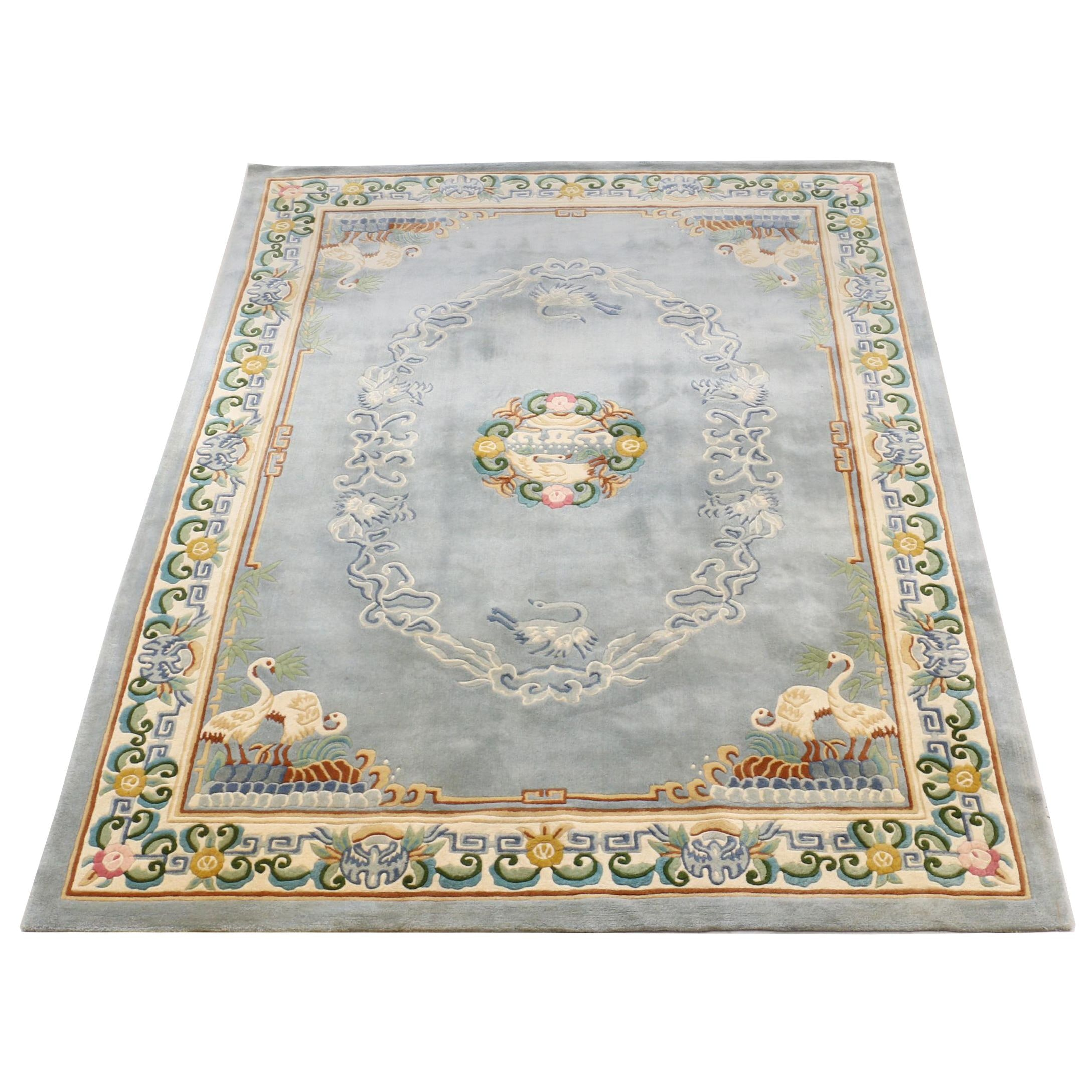 Tufted and Sculpted Chinese Wool Area Rug