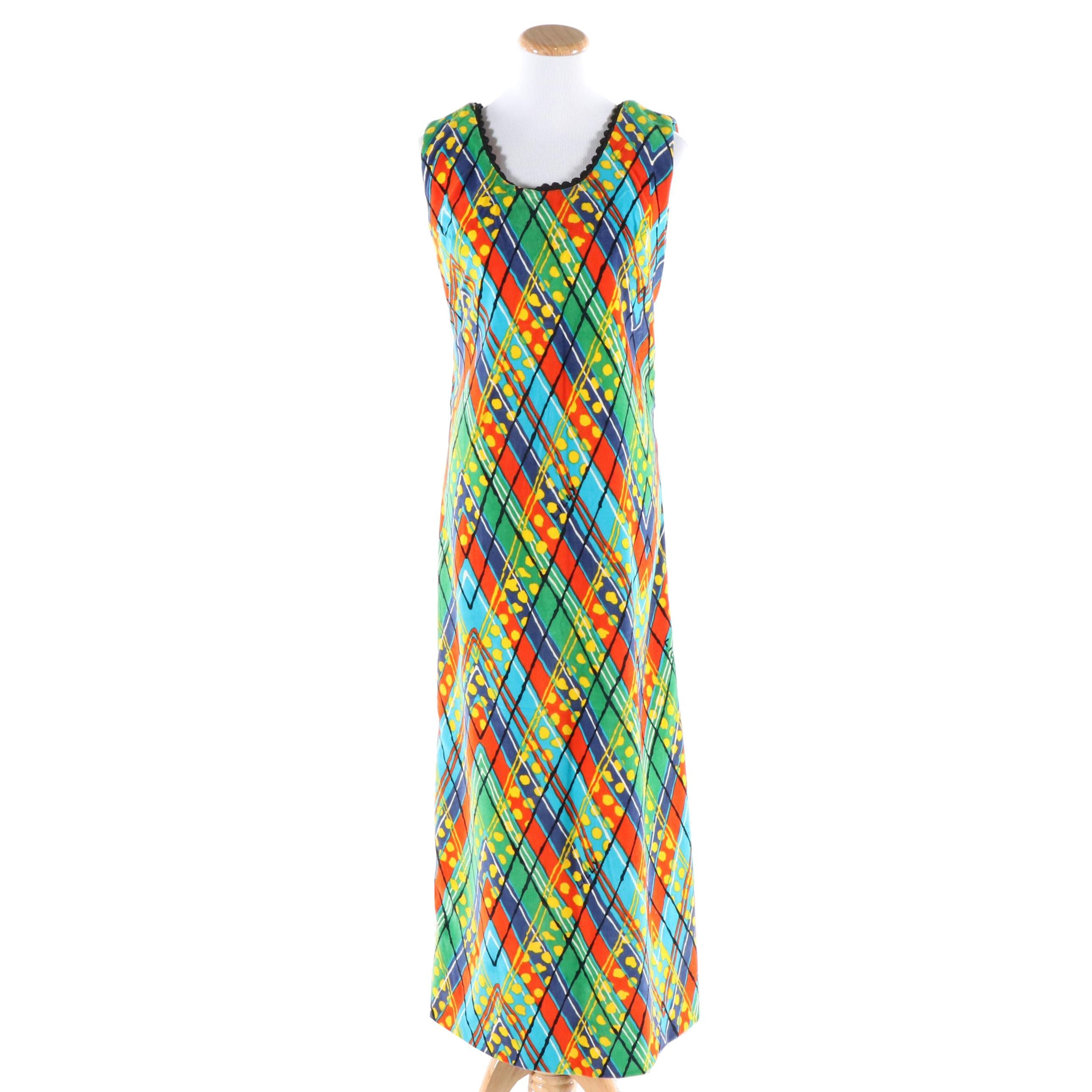The Lilly Lilly Pulitzer Multicolored Sleeveless Maxi Dress, circa 1970