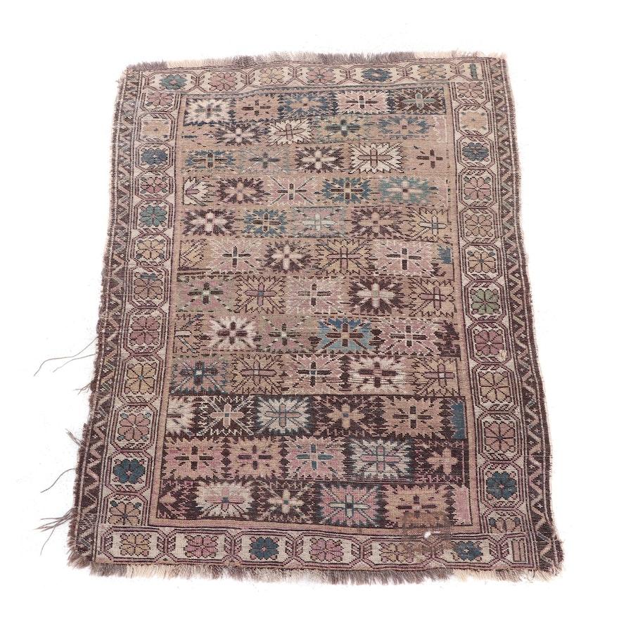 Hand-Knotted Persian Kurdish Wool Rug