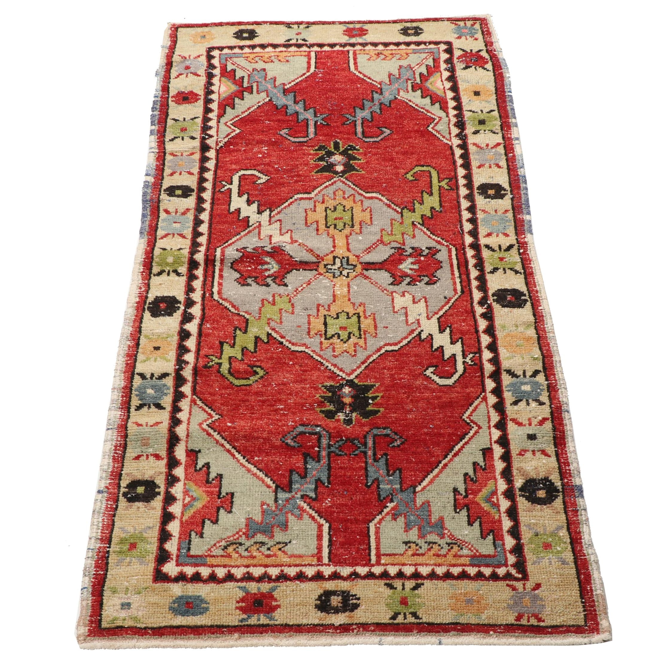 Hand-Knotted Indo-Persian Ardabil Wool Rug