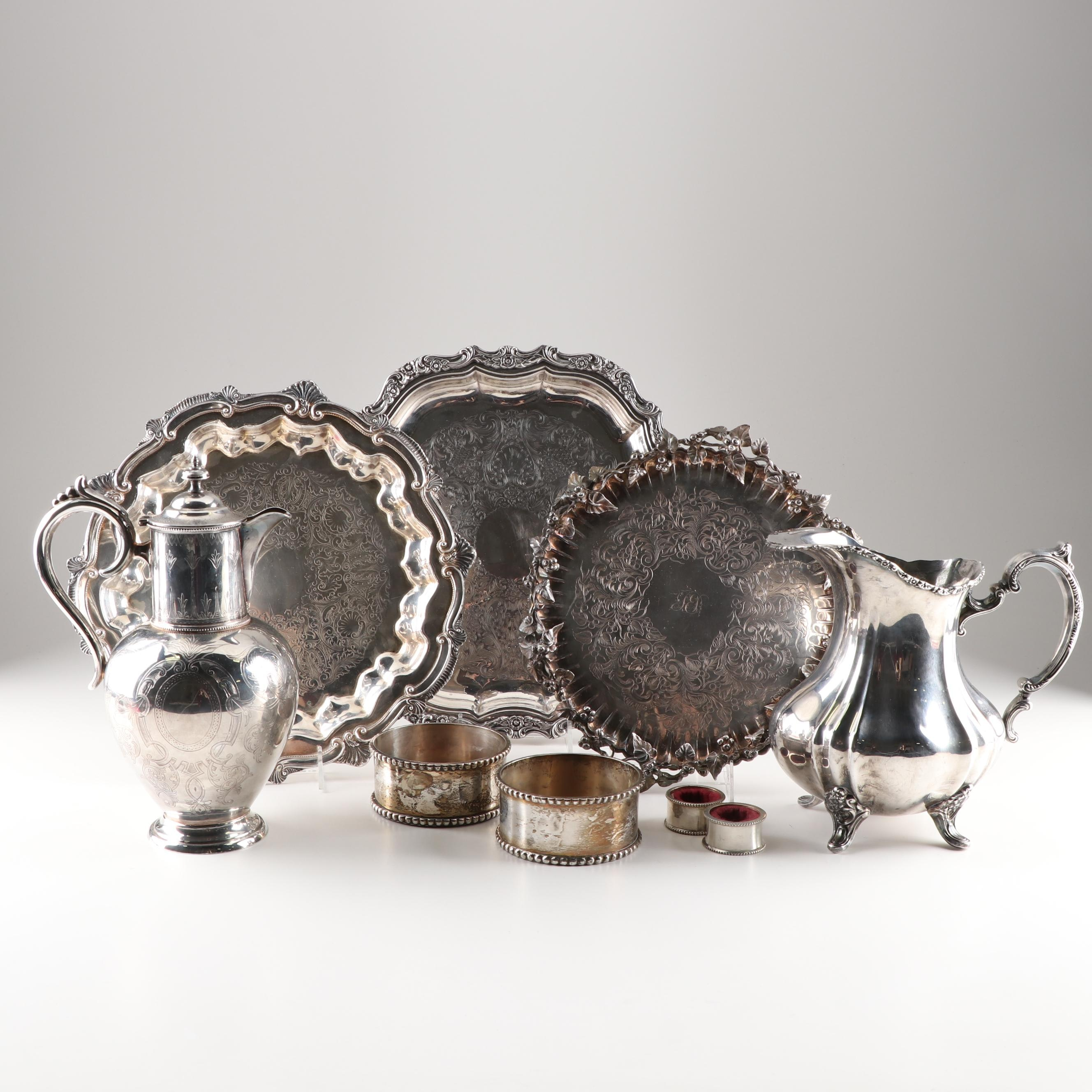 Silver Plate Tableware Grouping Featuring Coutless