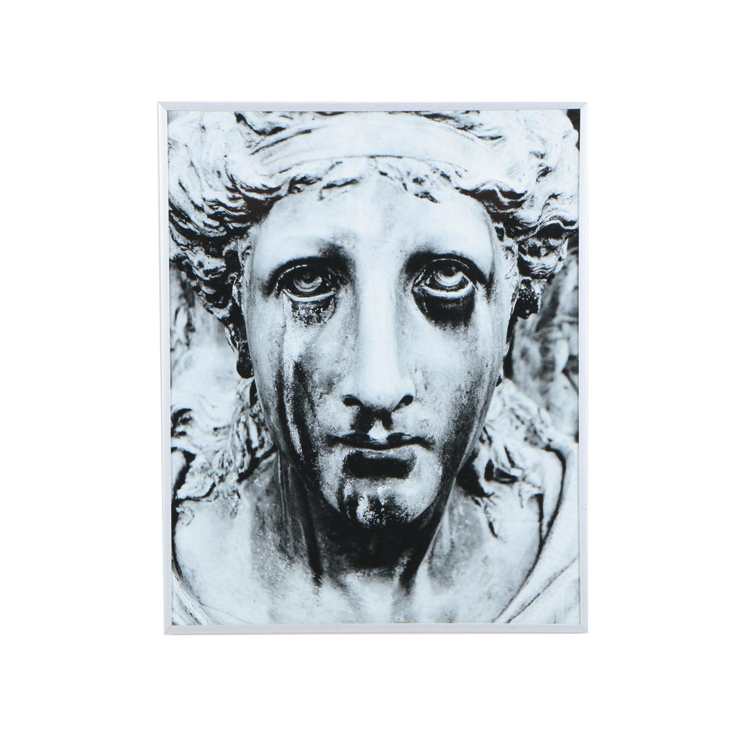 """DeSanto Photographic Print of Weeping Statue """"Sorrow"""""""