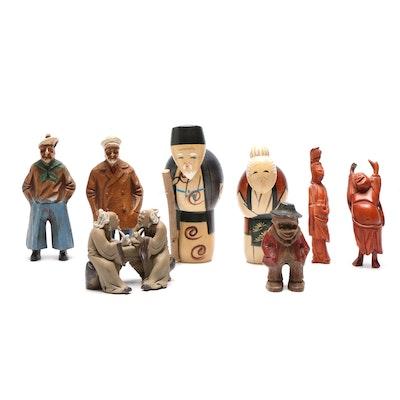 Mid Century Modern Wooden Figurines