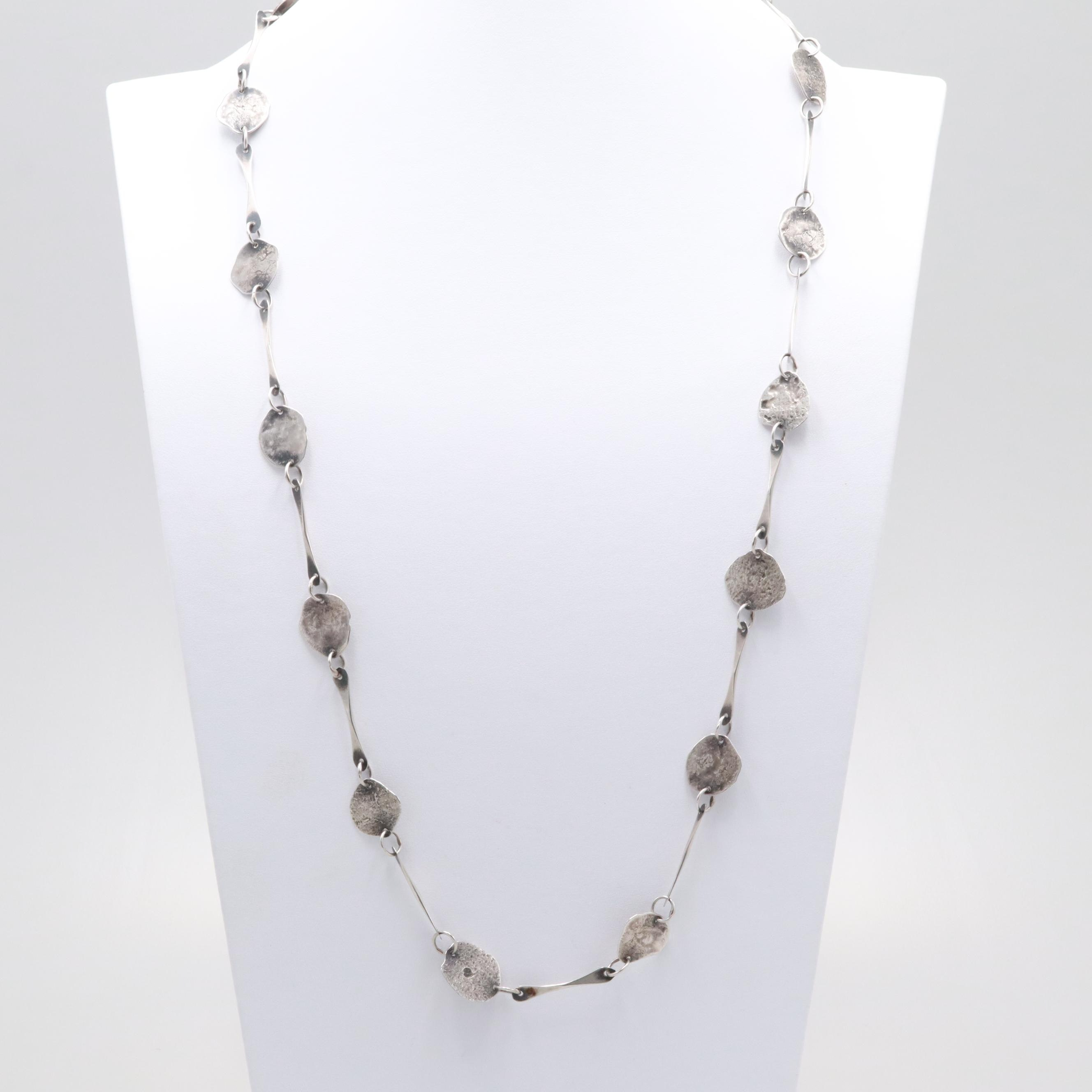 Sterling Silver Link Endless Necklace