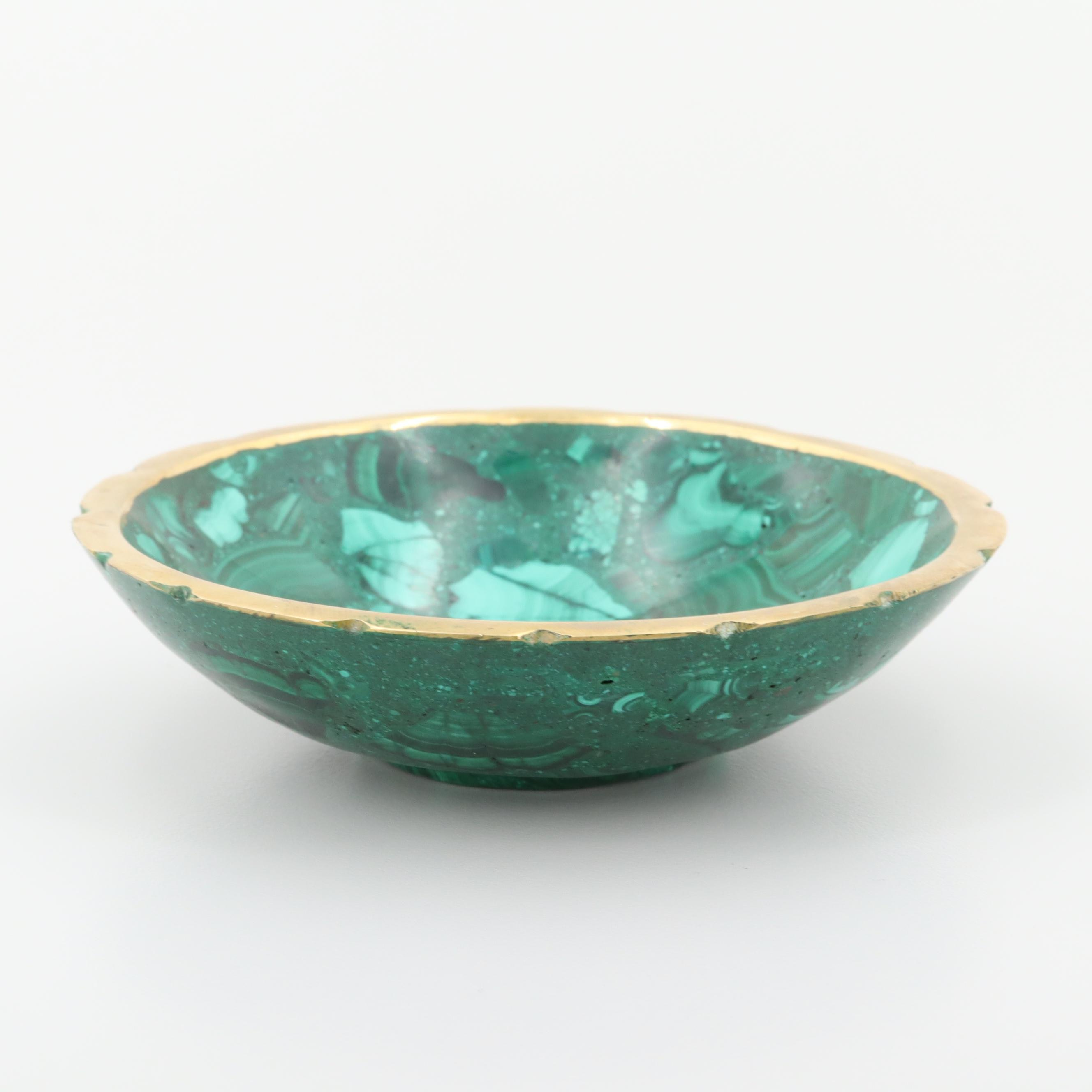 Malachite and Resin Bowl