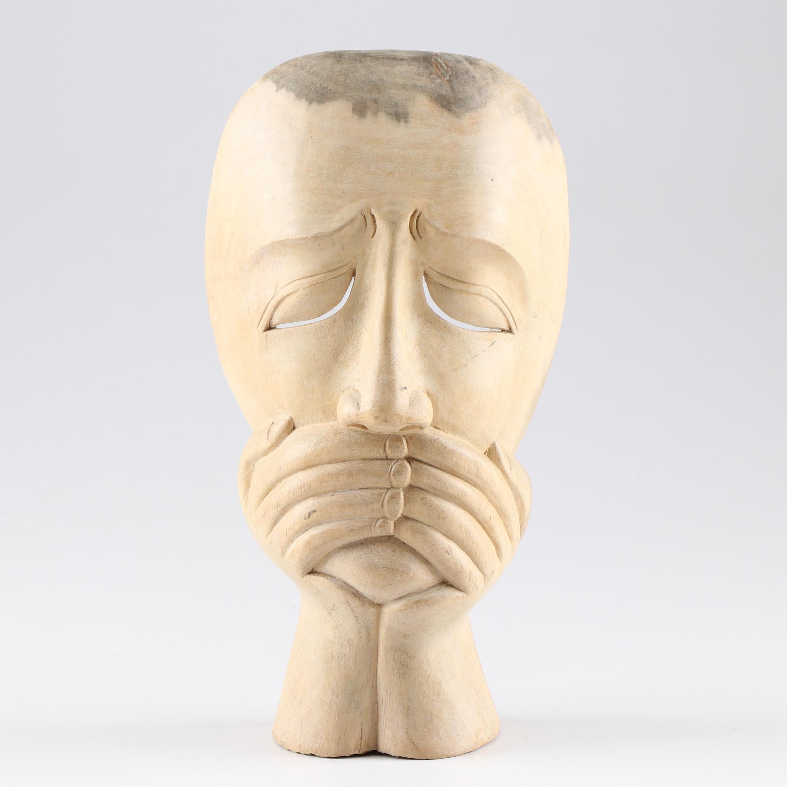 Indonesian Carved Mask, Contemporary